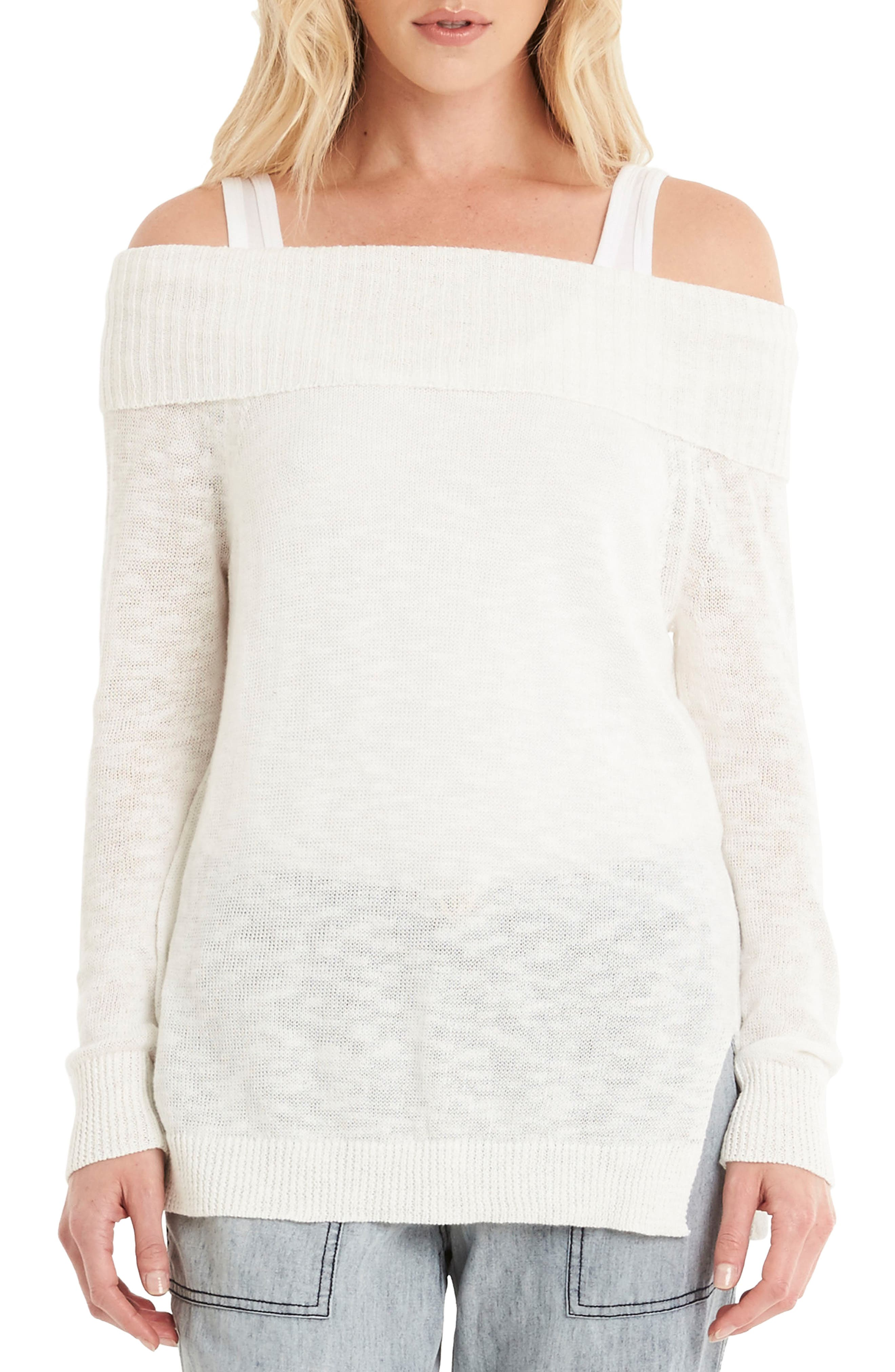 Off the Shoulder Sweater,                             Main thumbnail 1, color,                             020