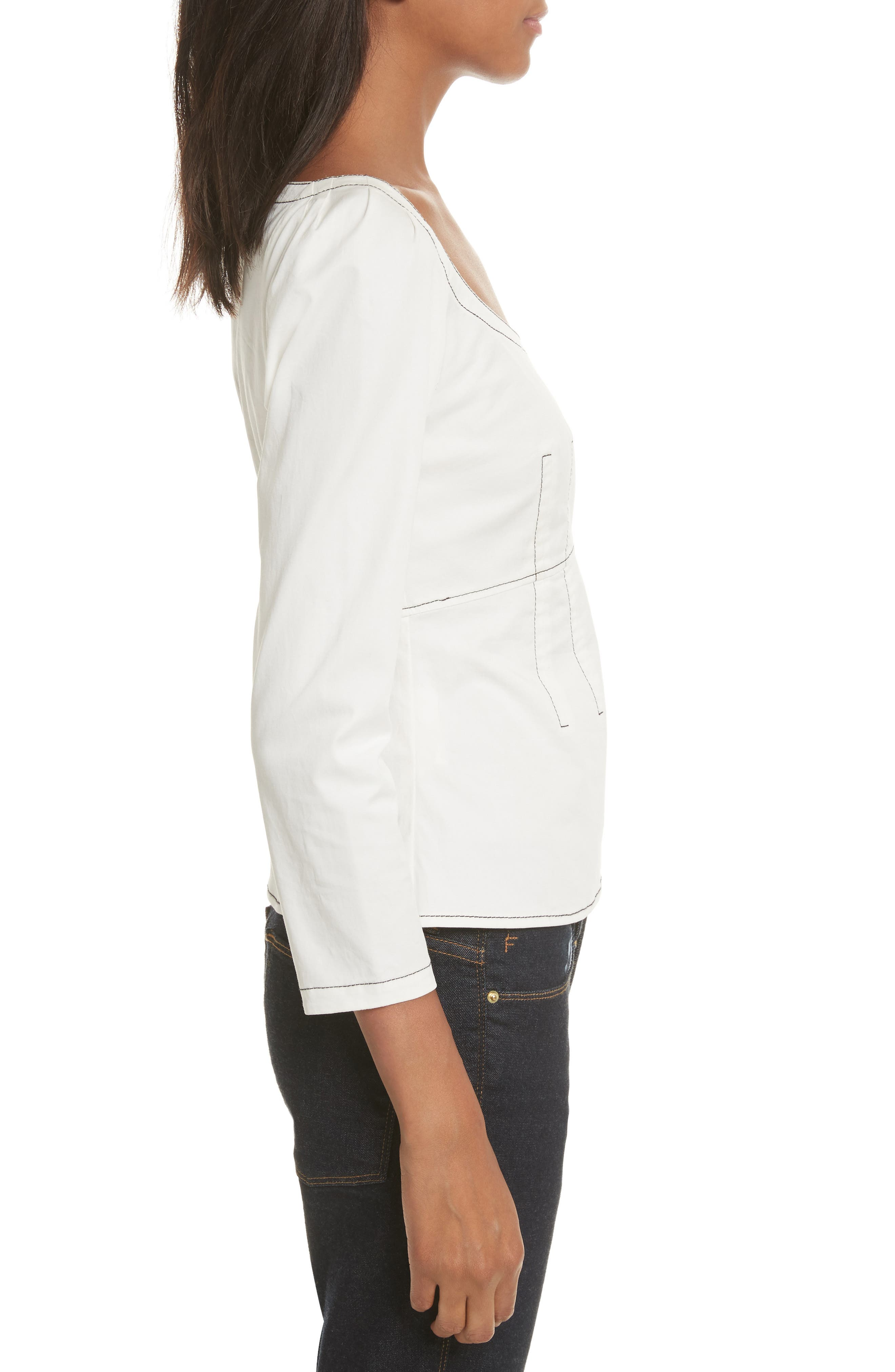 Structured Twill Top,                             Alternate thumbnail 3, color,                             183