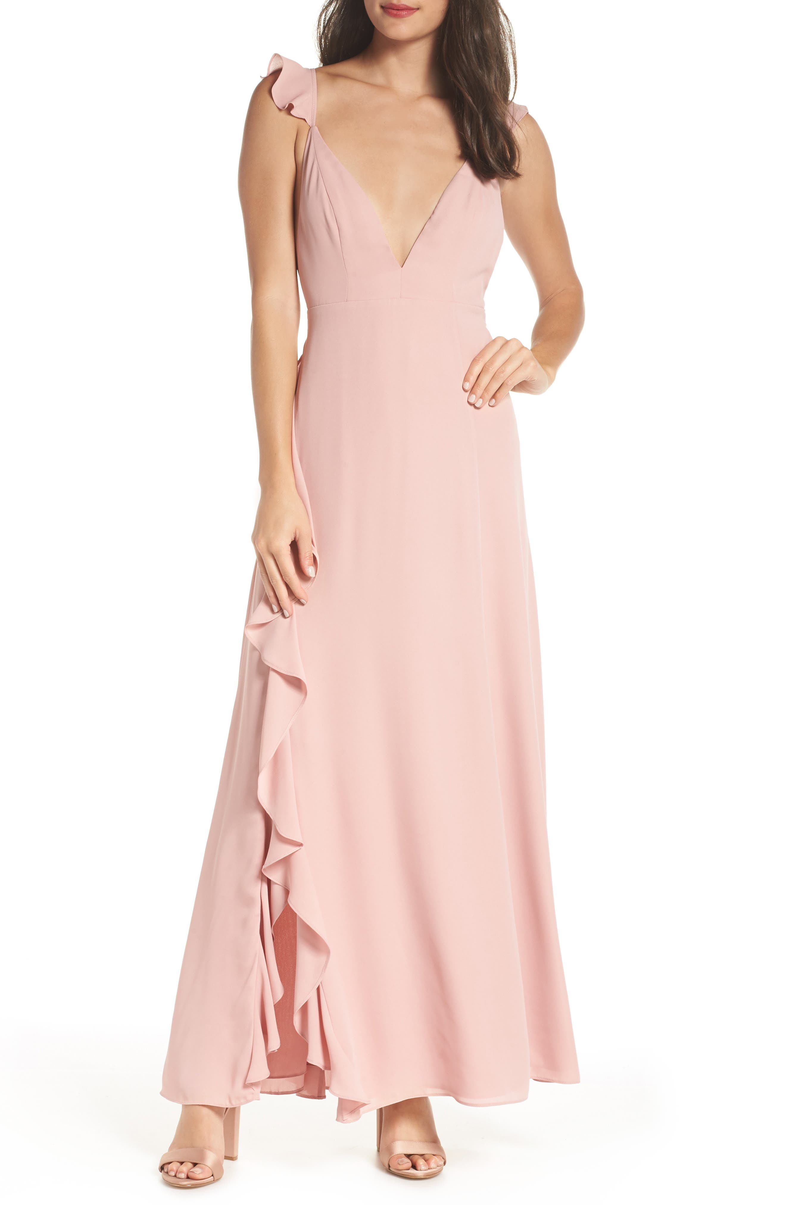 Fame And Partners The Amanda Gown, Pink