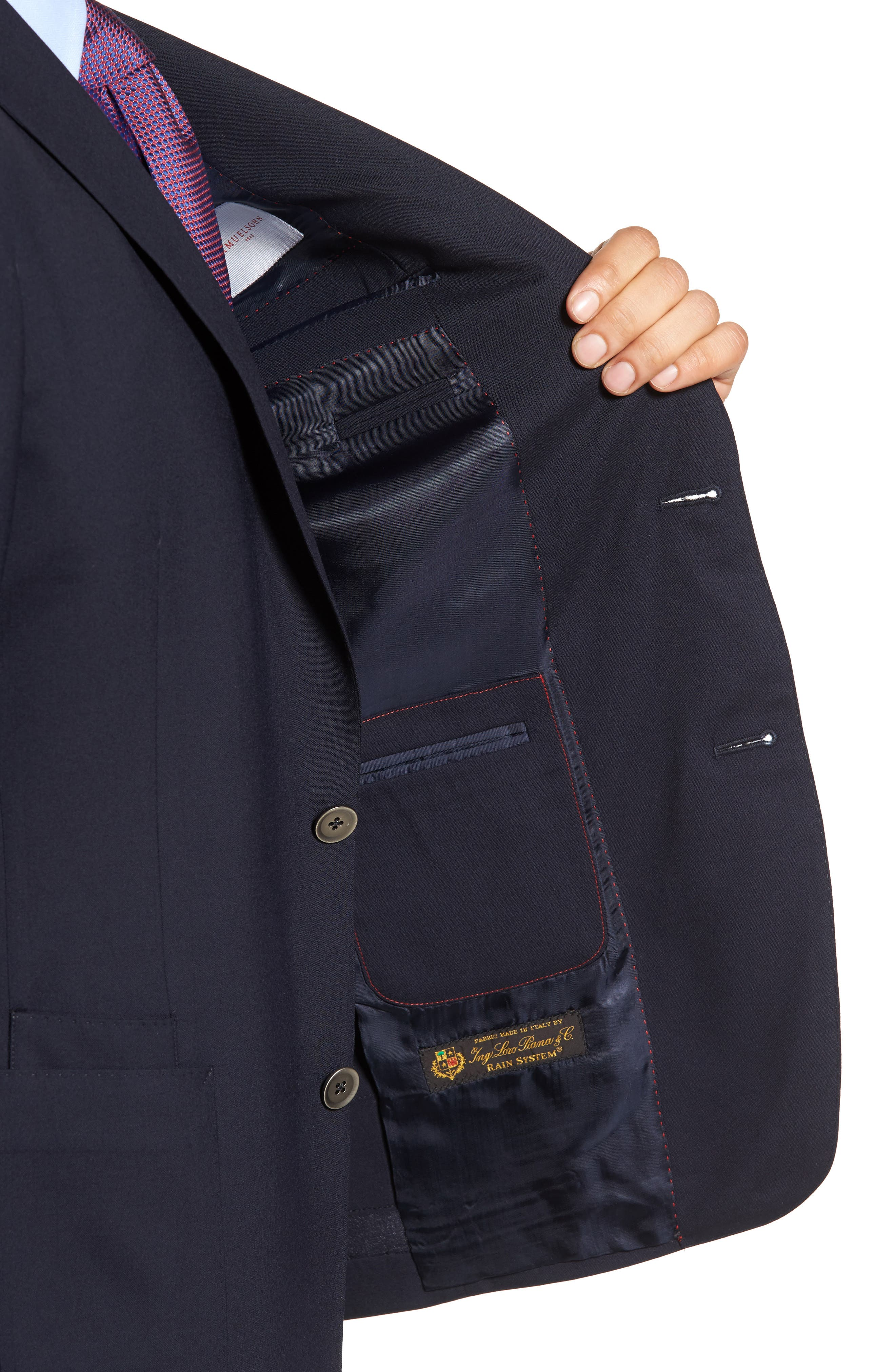Classic Fit Stretch Wool Travel Blazer,                             Alternate thumbnail 4, color,                             410