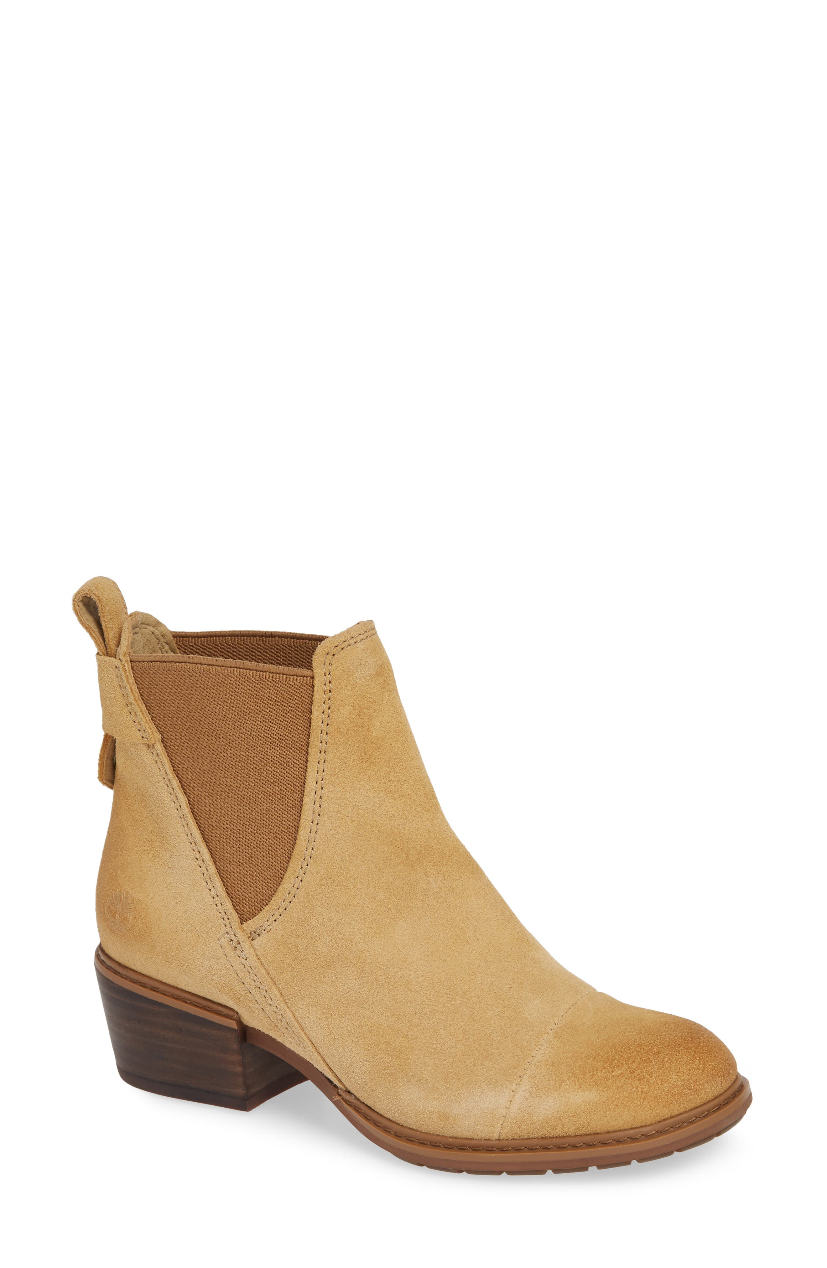 TIMBERLAND Sutherlin Bay Slouch Chelsea Bootie, Main, color, ICED COFFEE SUEDE