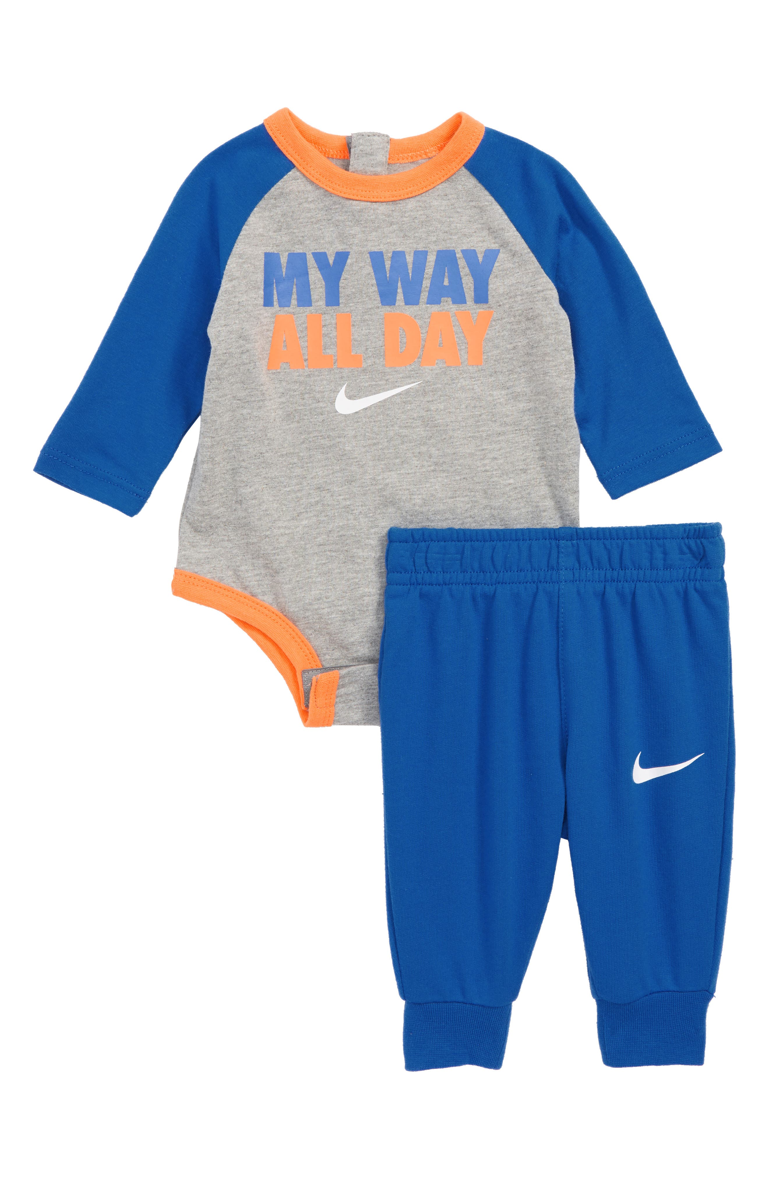 My Way All Day Bodysuit & Pants Set,                         Main,                         color, GAME ROYAL
