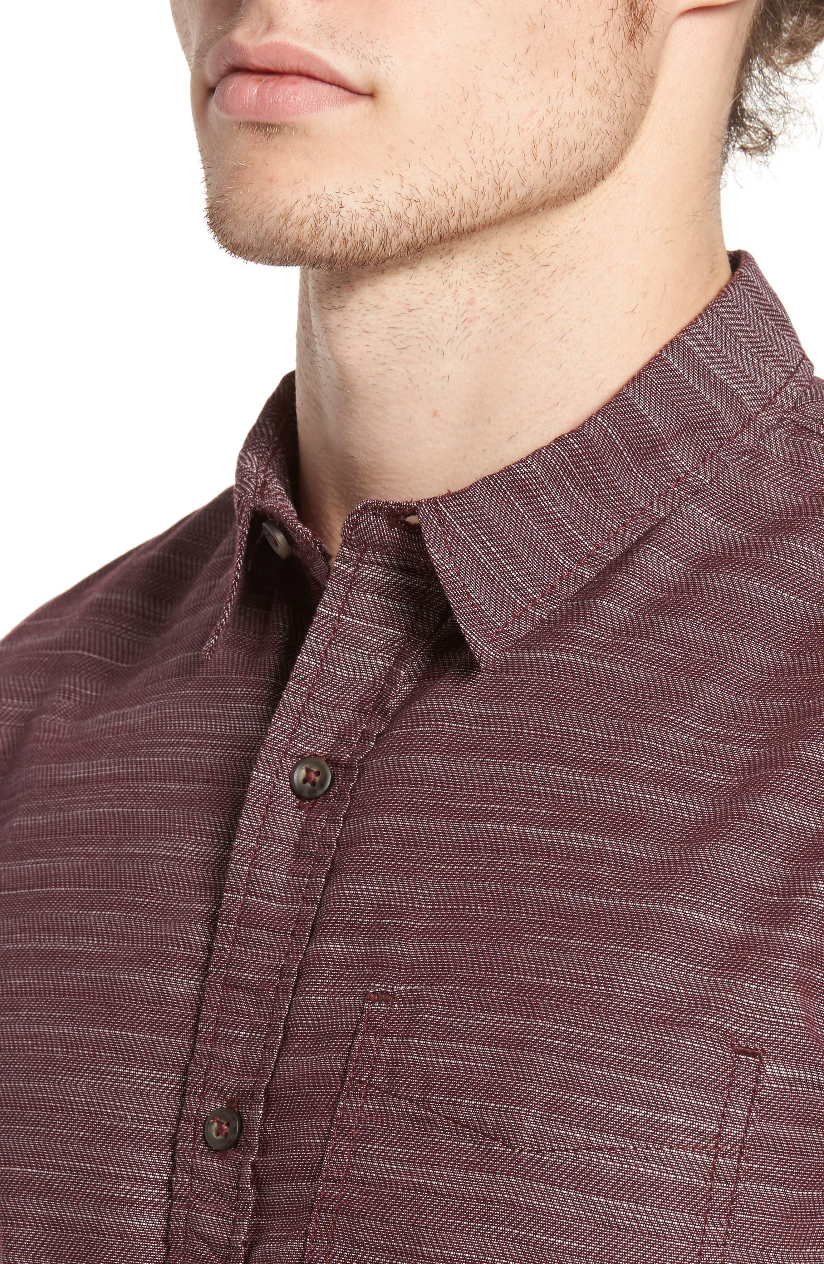 Herringbone Chambray Shirt,                             Alternate thumbnail 12, color,