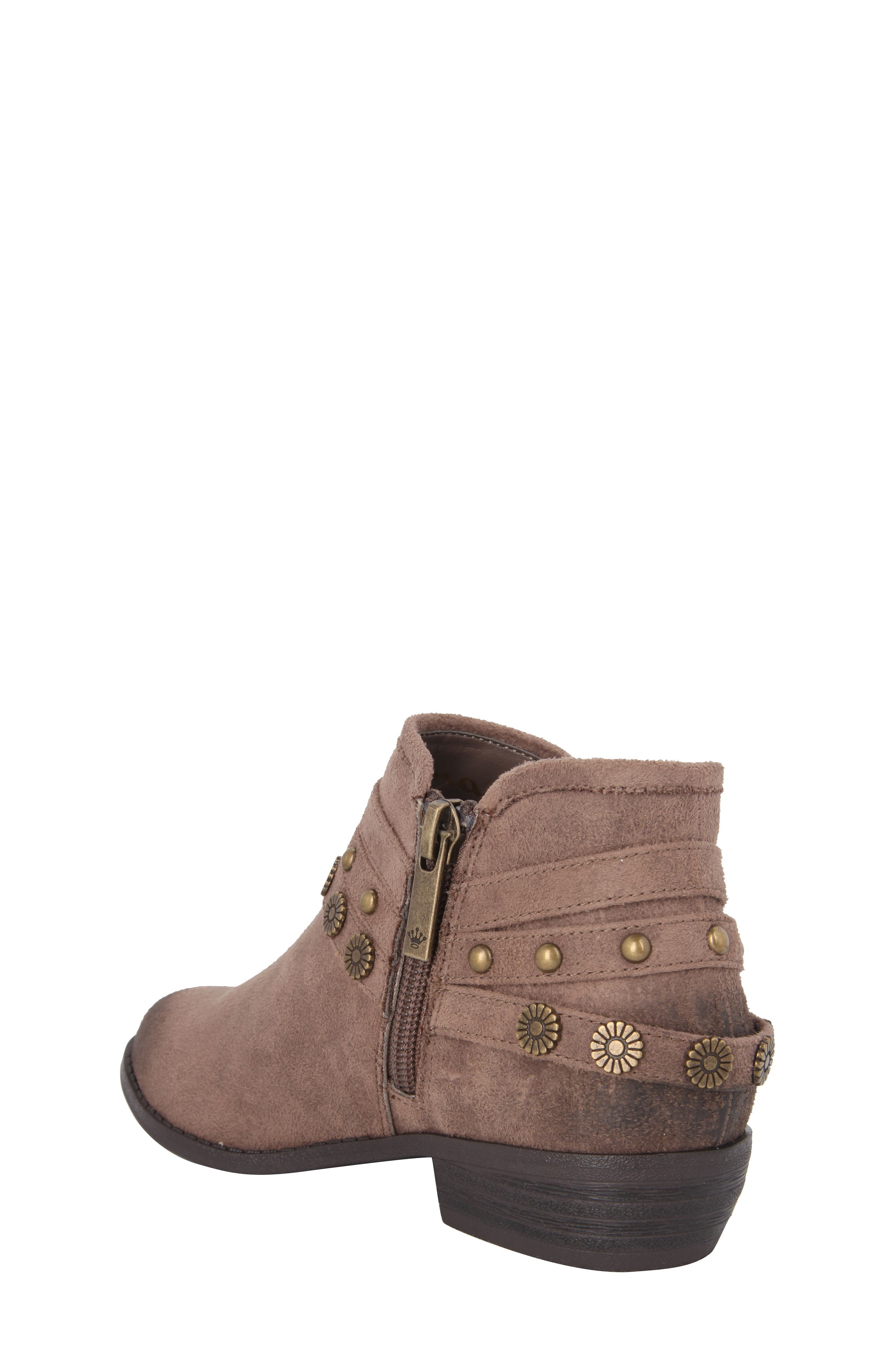 Zoe Strappy Low Bootie,                             Alternate thumbnail 4, color,