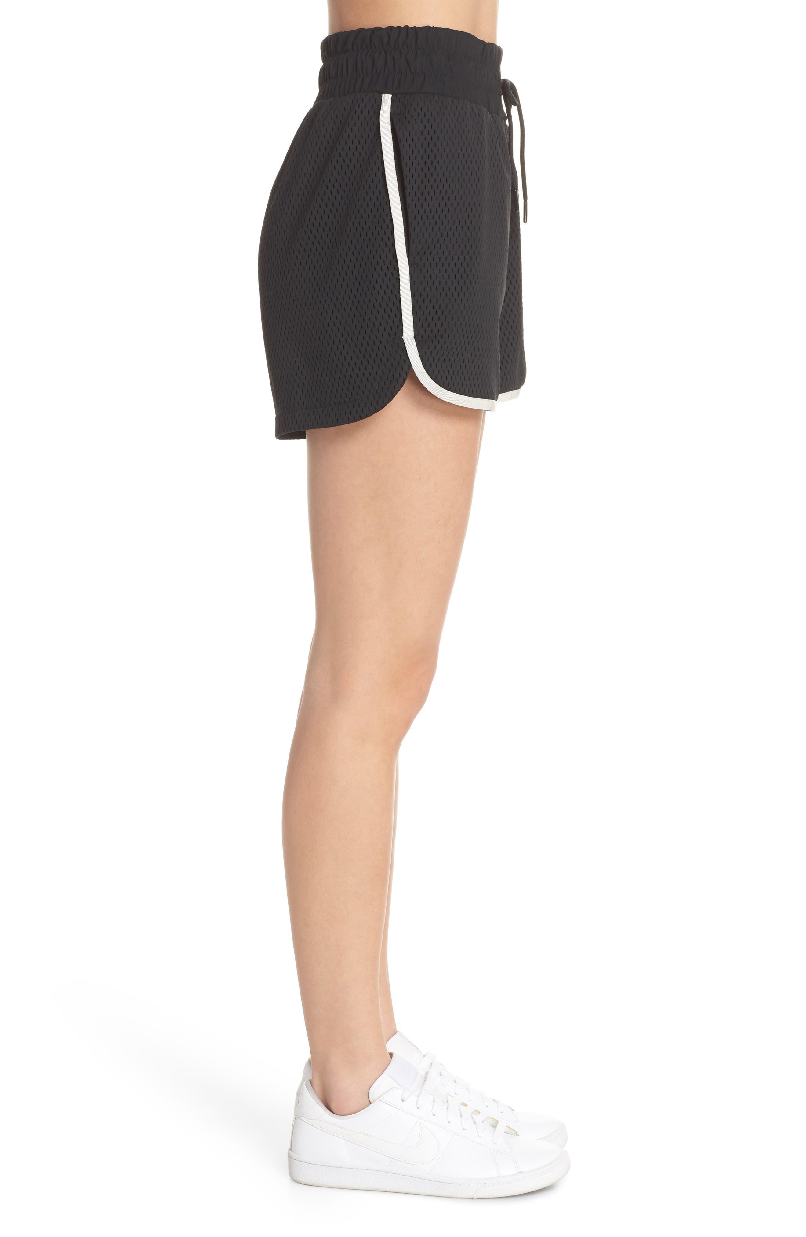 Sportswear Women's Dri-FIT Mesh Shorts,                             Alternate thumbnail 3, color,                             BLACK/ LIGHT BONE