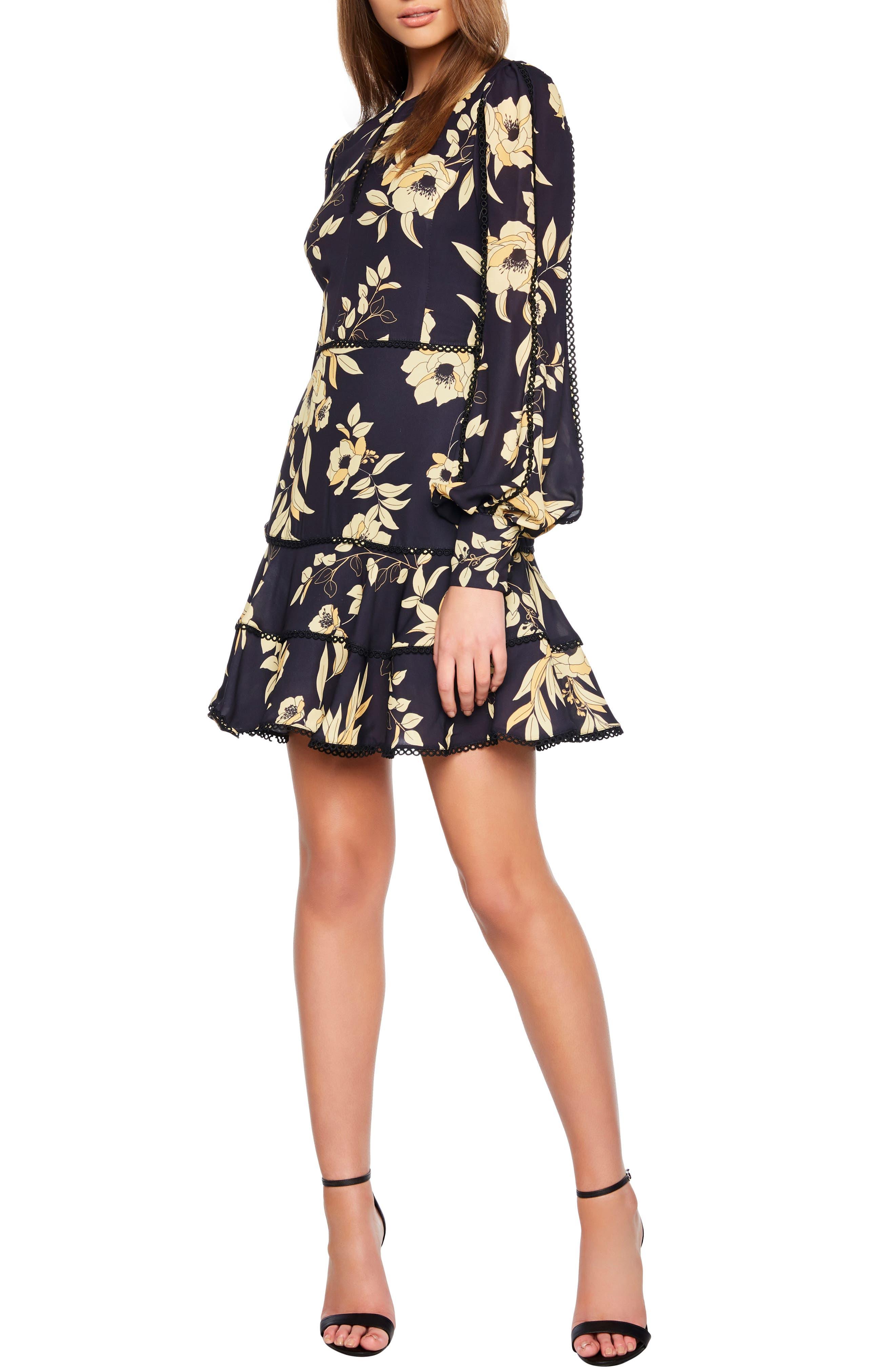 Bardot Grace Fit & Flare Dress, Black