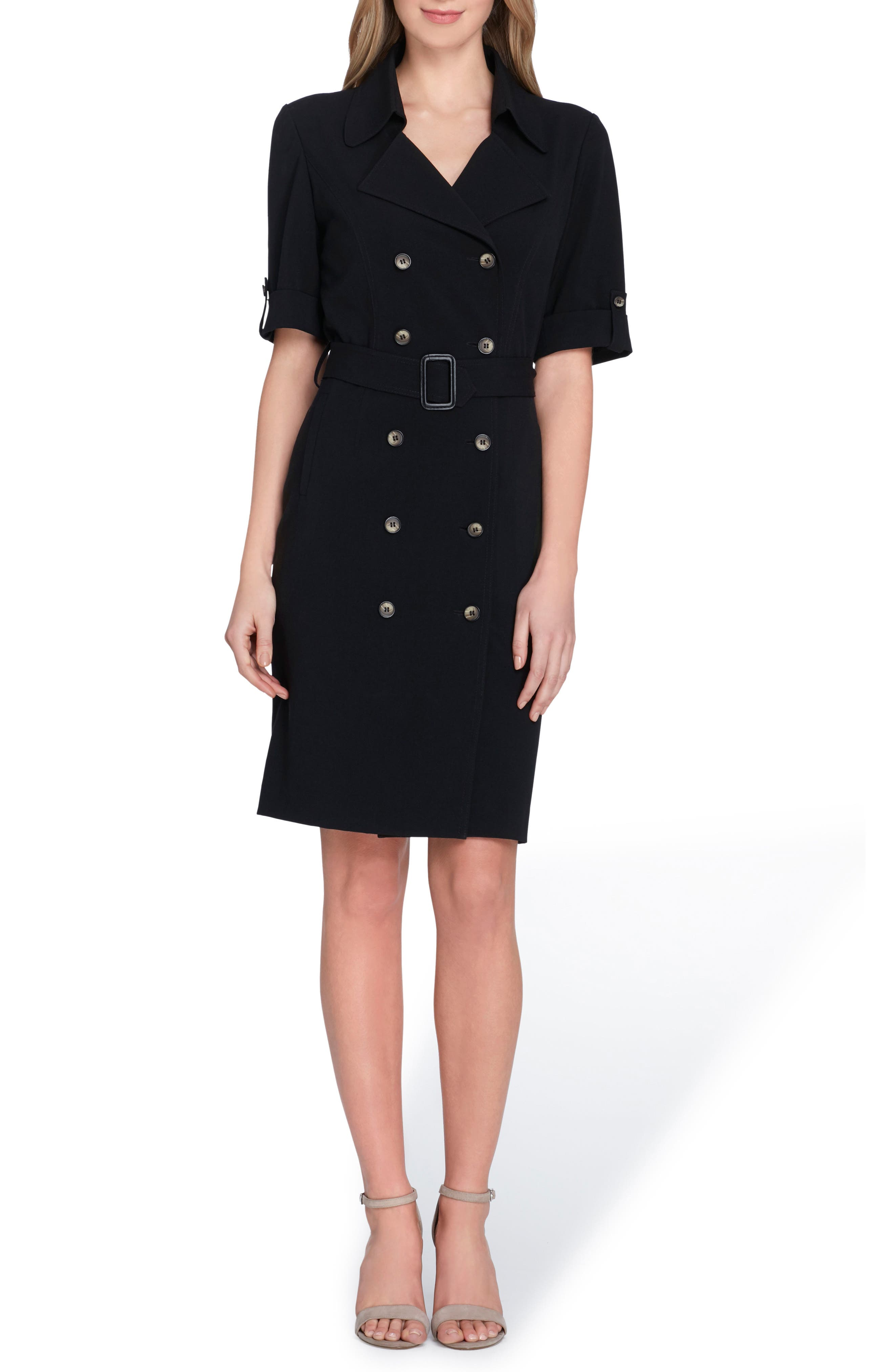Collared Sheath Dress,                         Main,                         color, 001