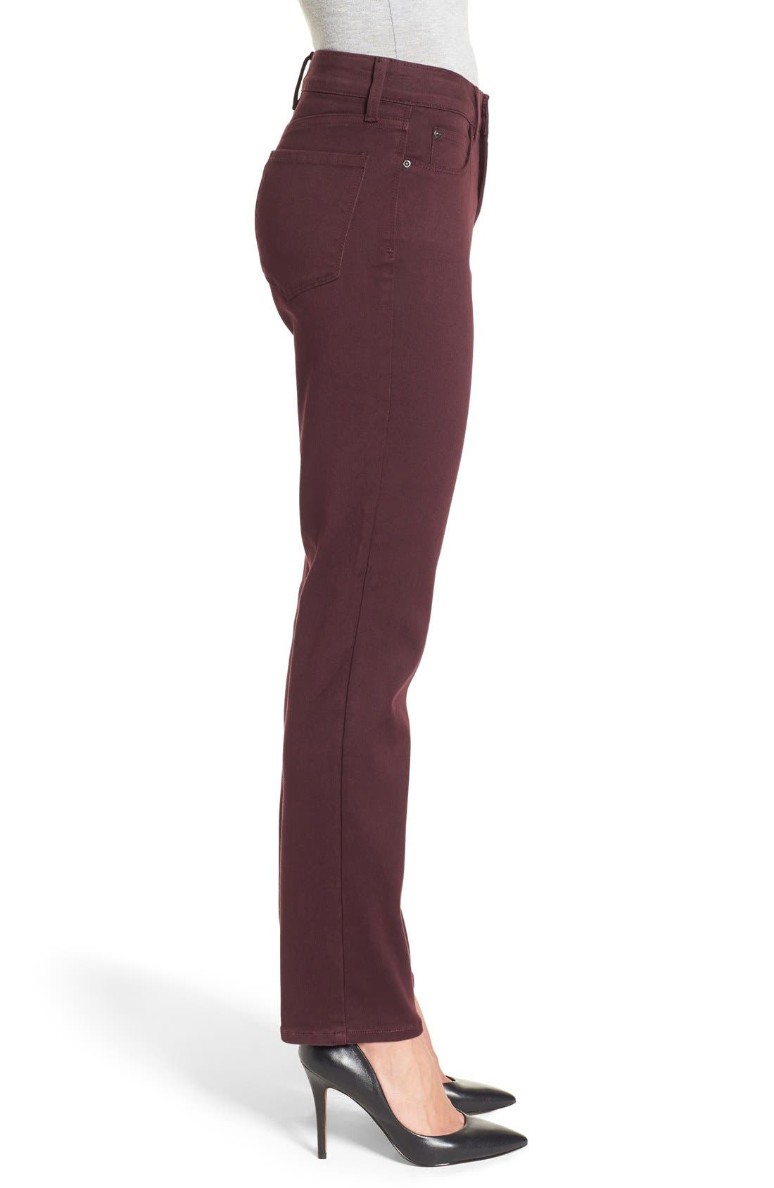 'Sheri' Stretch Twill Slim Leg Pants,                             Alternate thumbnail 10, color,