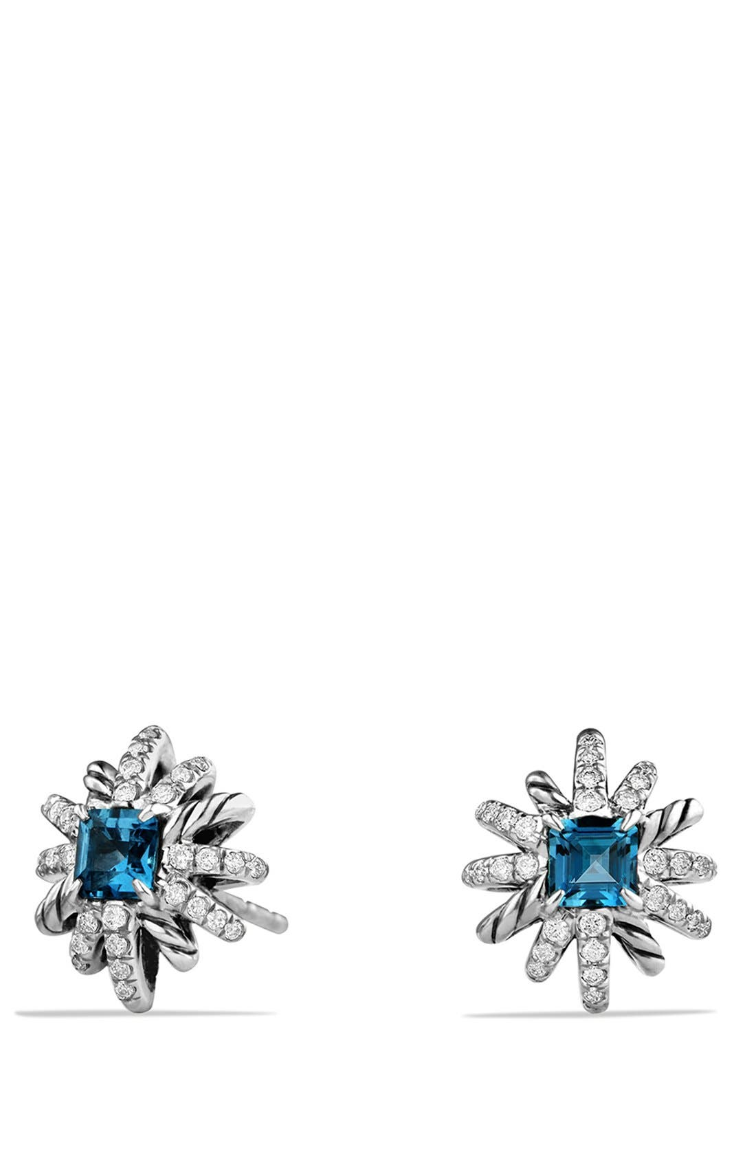'Starburst' Earrings,                             Main thumbnail 1, color,                             HAMPTON BLUE TOPAZ