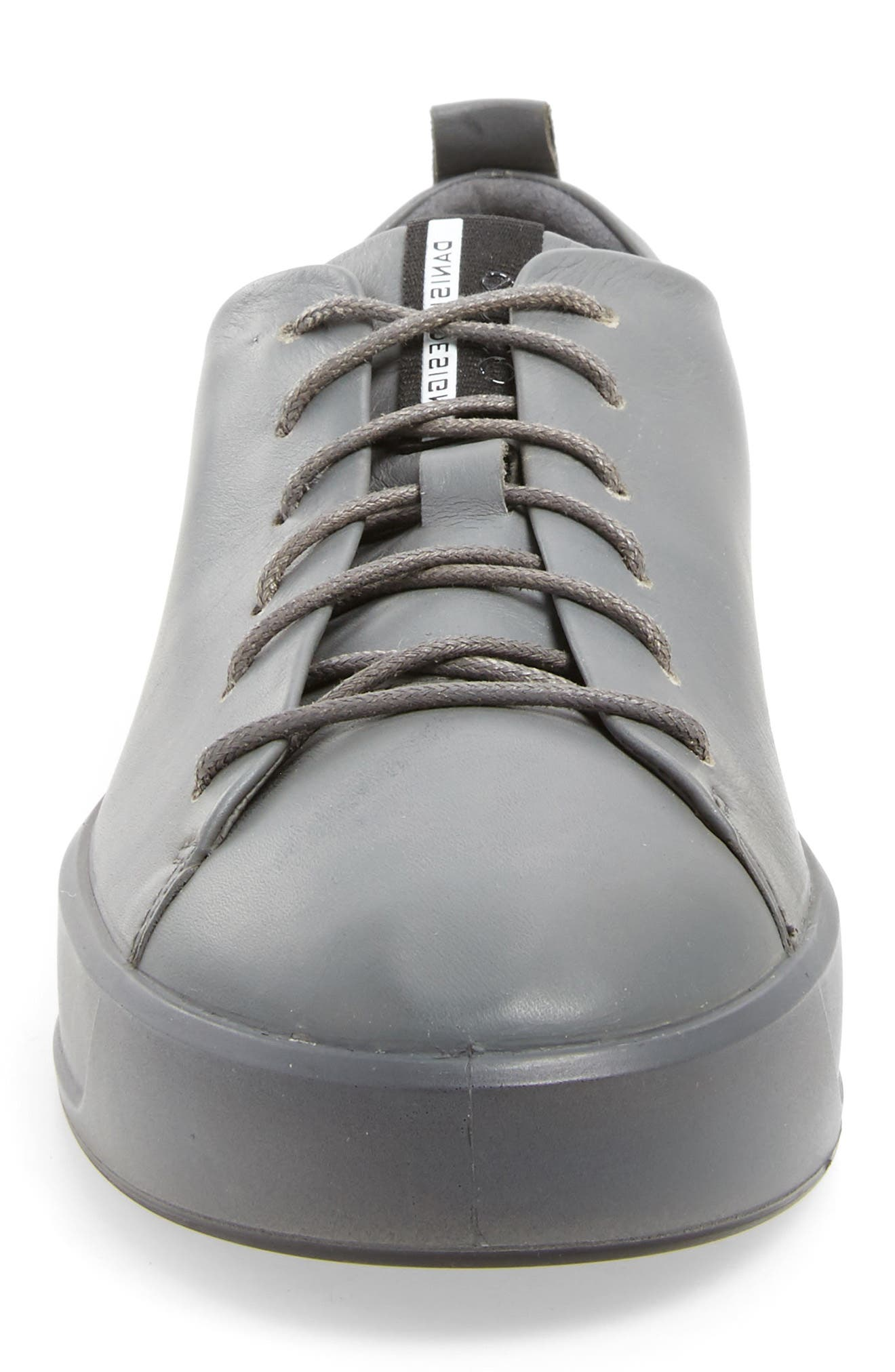 Soft 8 Sneaker,                             Alternate thumbnail 4, color,                             TITANIUM LEATHER