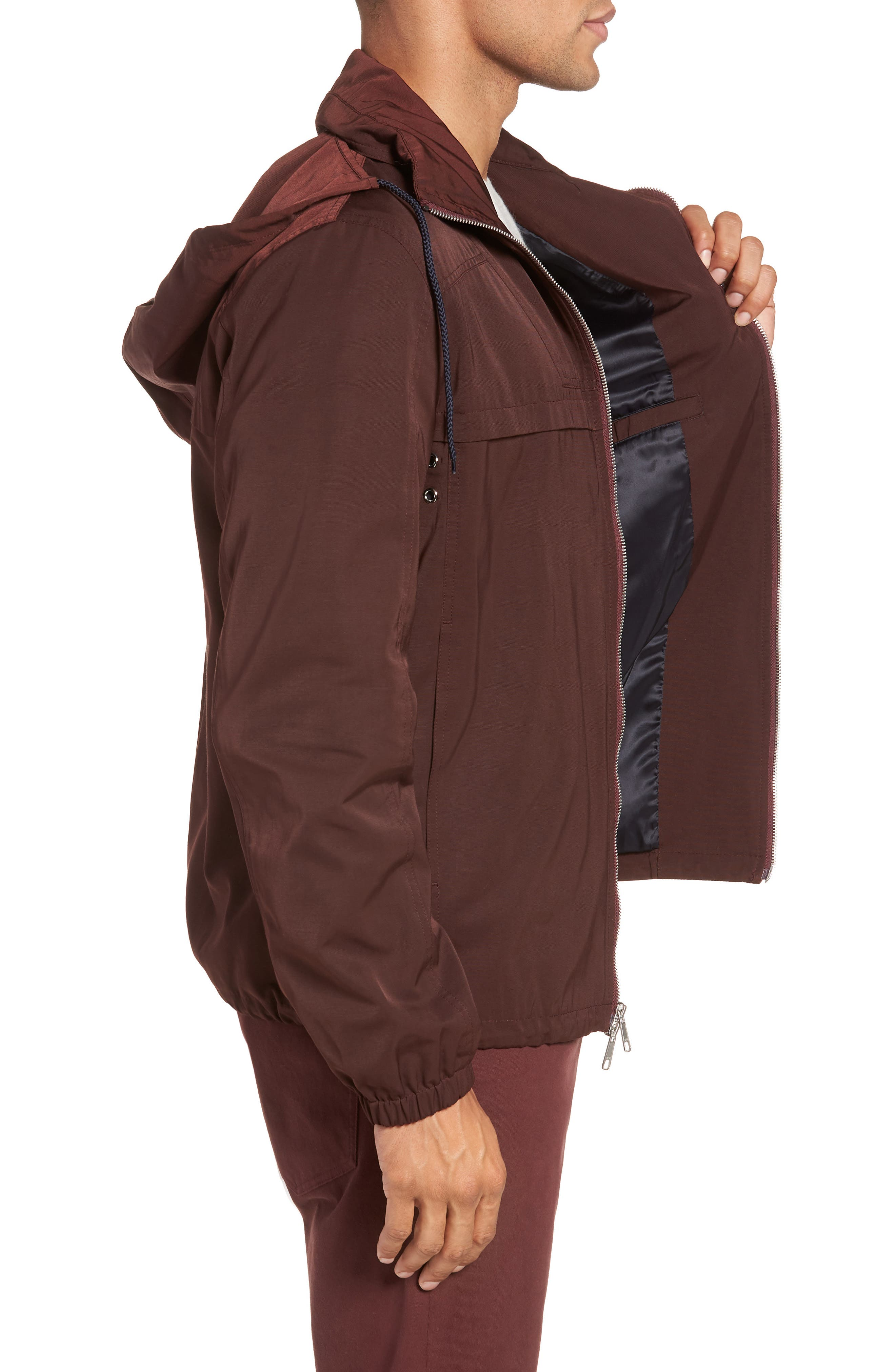 Zip Front Regular Fit Jacket,                             Alternate thumbnail 3, color,                             930