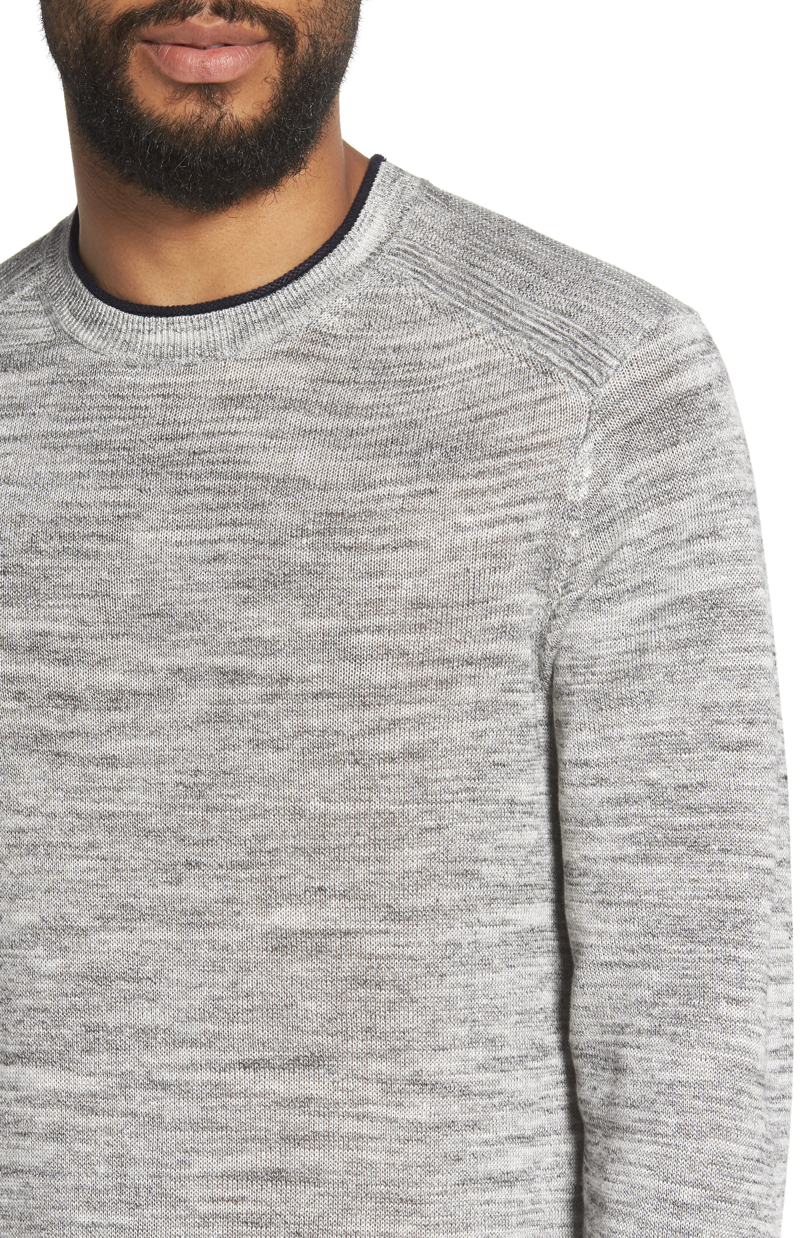 Inzone Crewneck Linen Blend Sweater,                             Alternate thumbnail 4, color,                             050