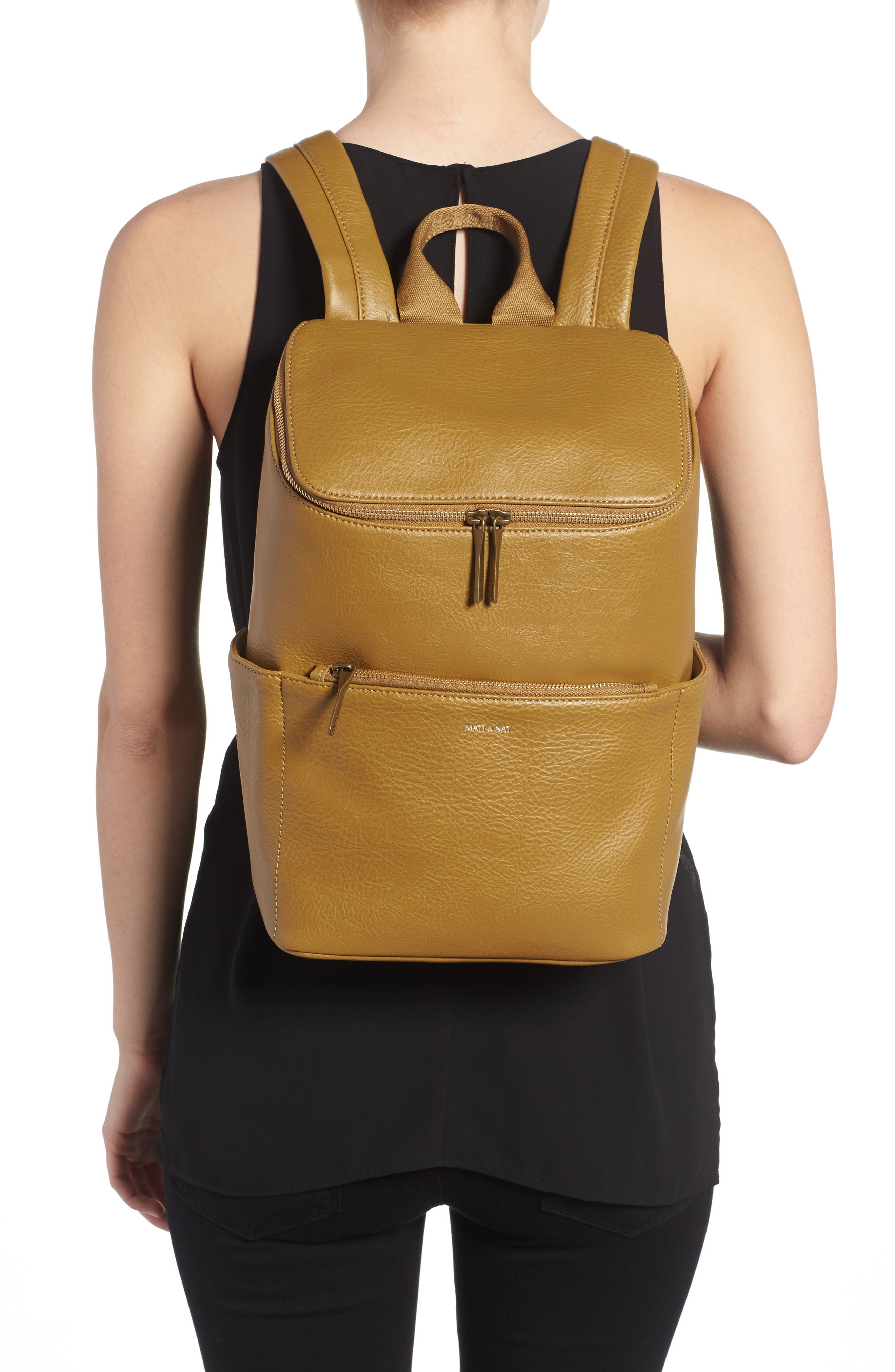 'Brave' Faux Leather Backpack,                             Alternate thumbnail 22, color,