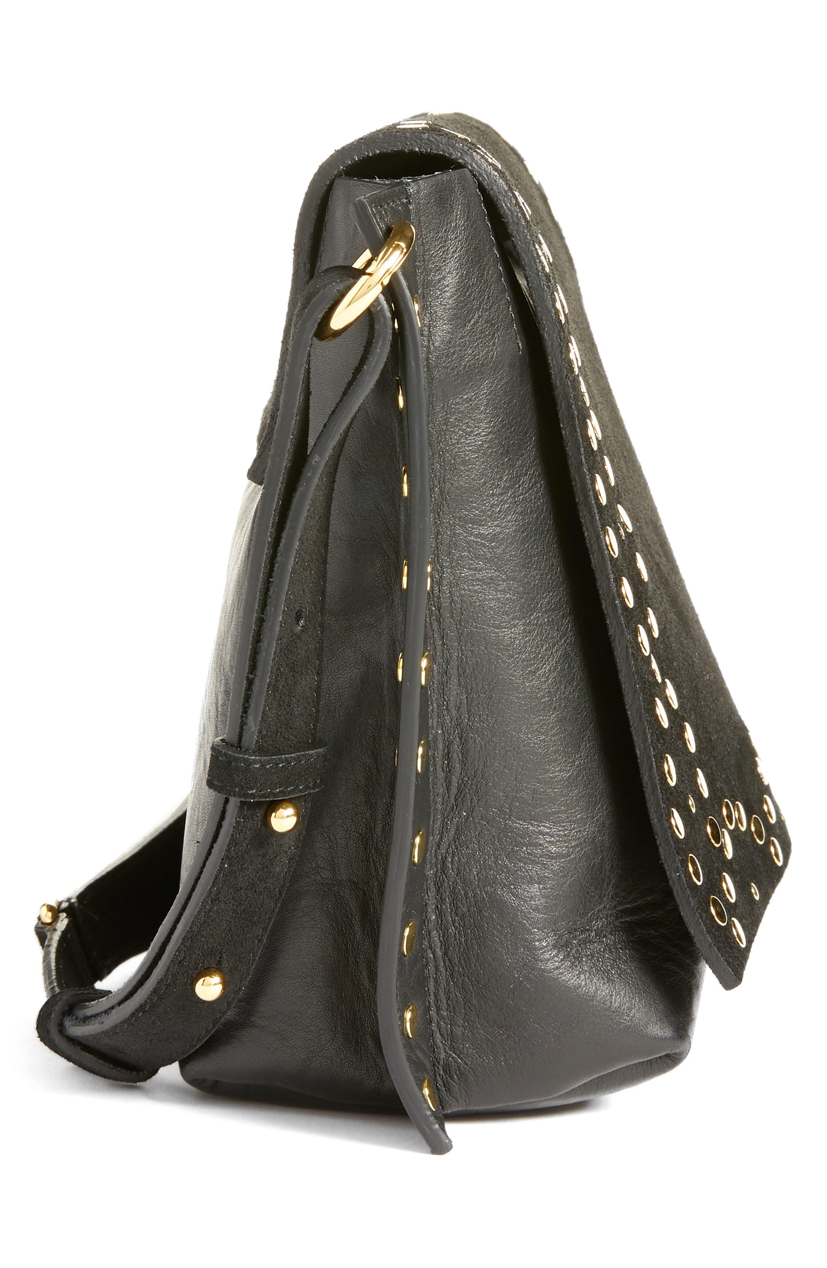 Asli Zoe Studded Shoulder Bag,                             Alternate thumbnail 5, color,