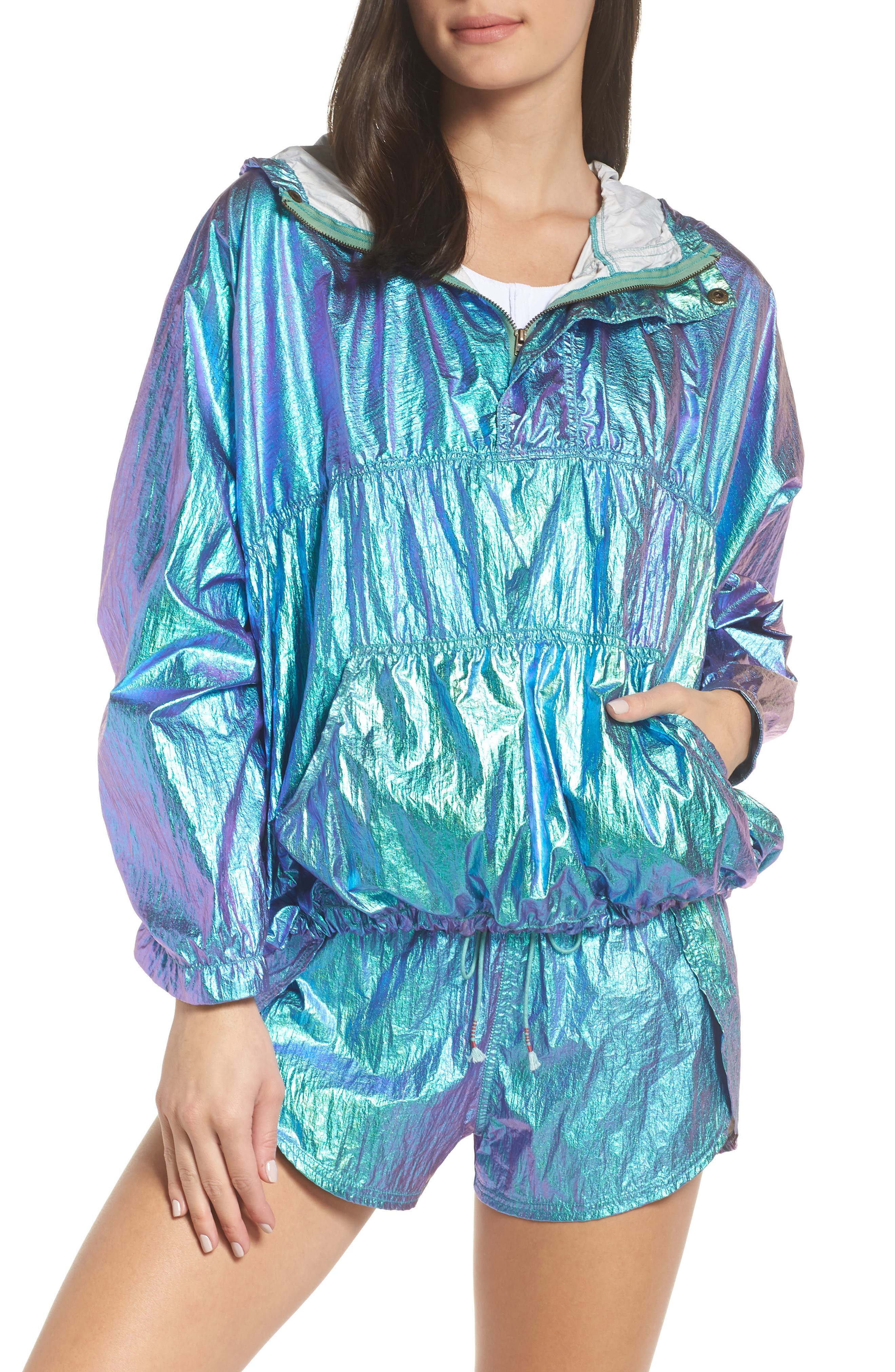 FREE PEOPLE MOVEMENT Free People Fp Movement Windjammer Jacket in Green