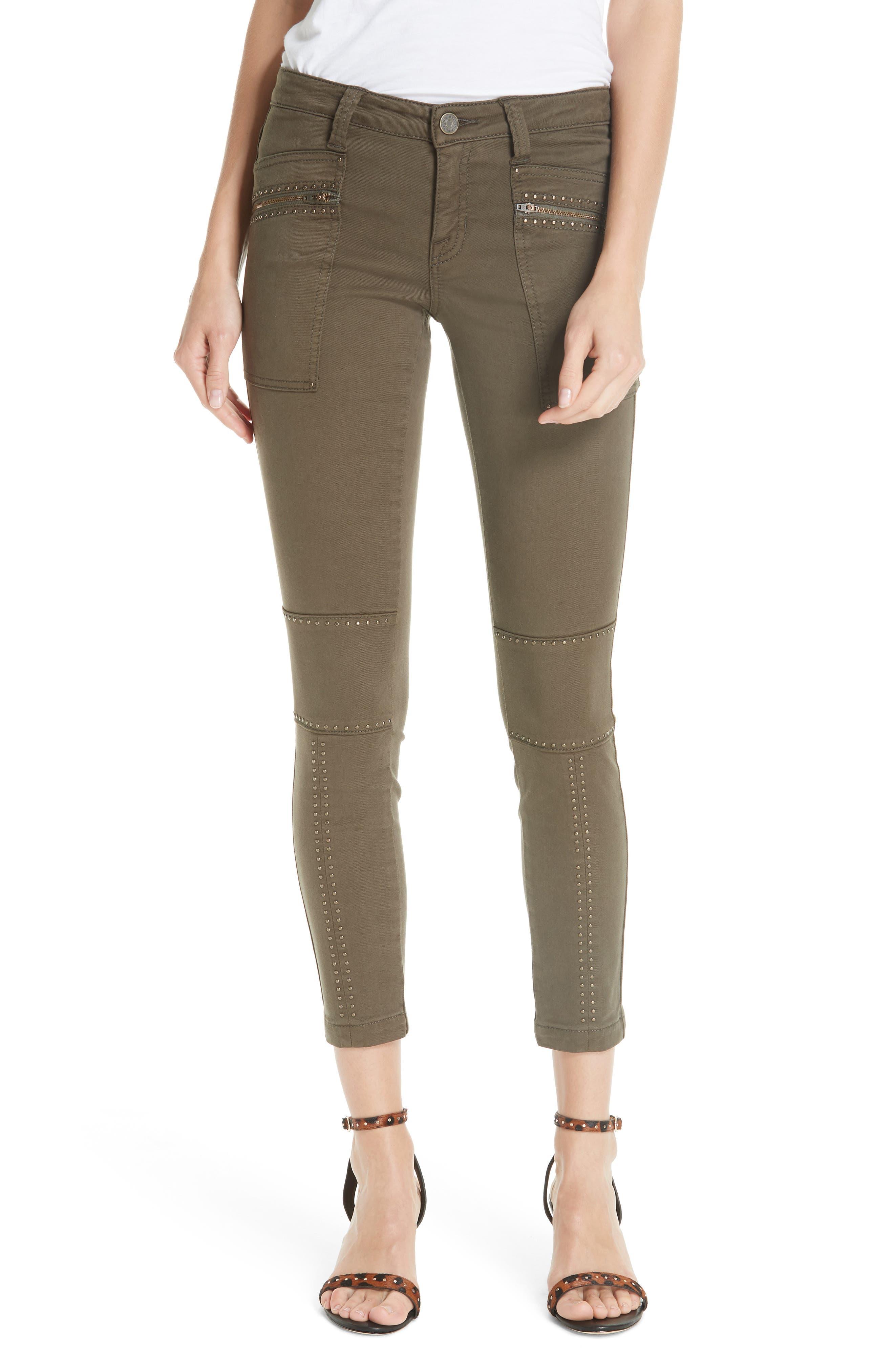 JOIE Hazina Stud Detail Pants, Main, color, 301