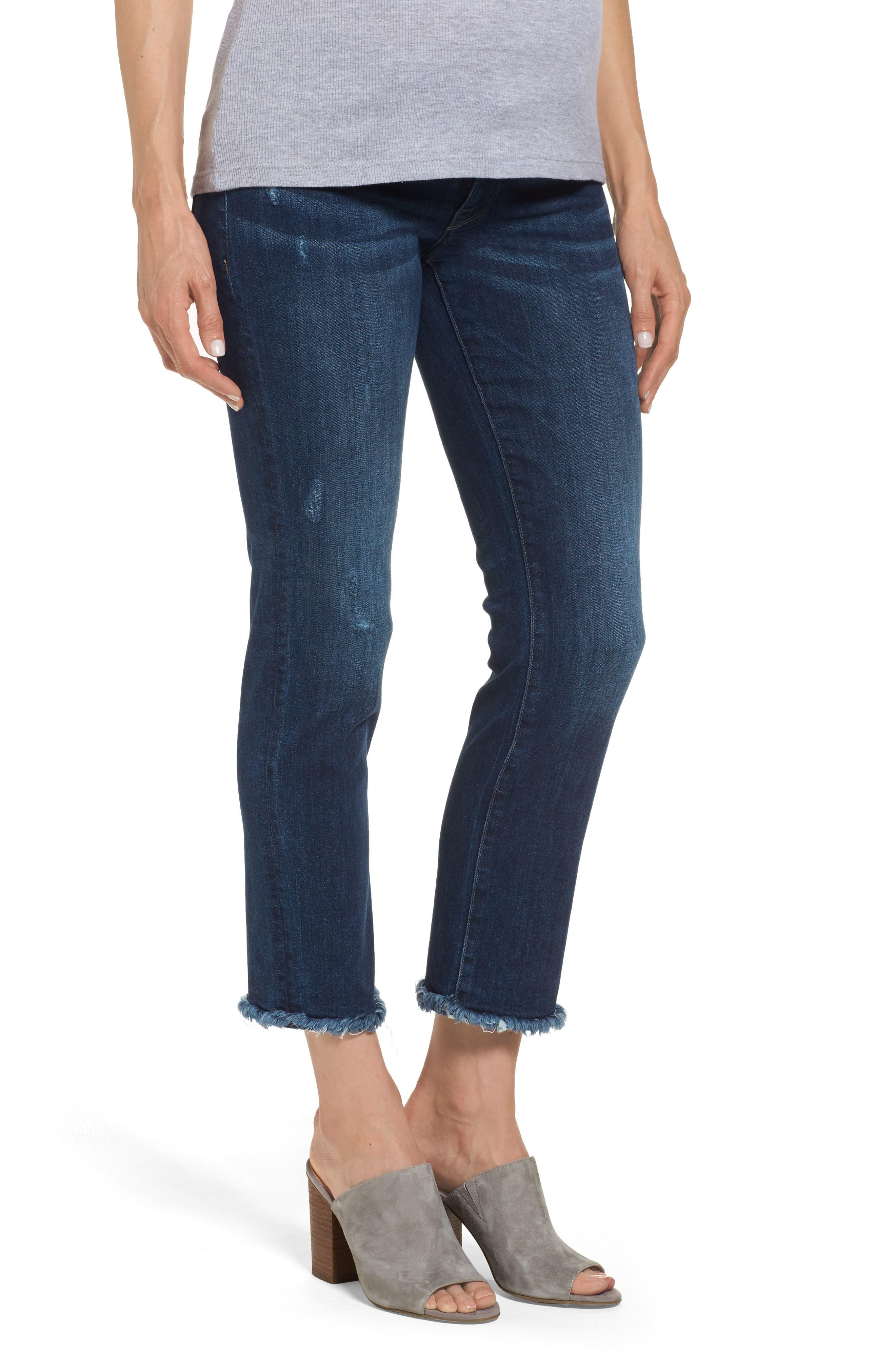 Mara Maternity Ankle Jeans,                             Alternate thumbnail 3, color,                             405