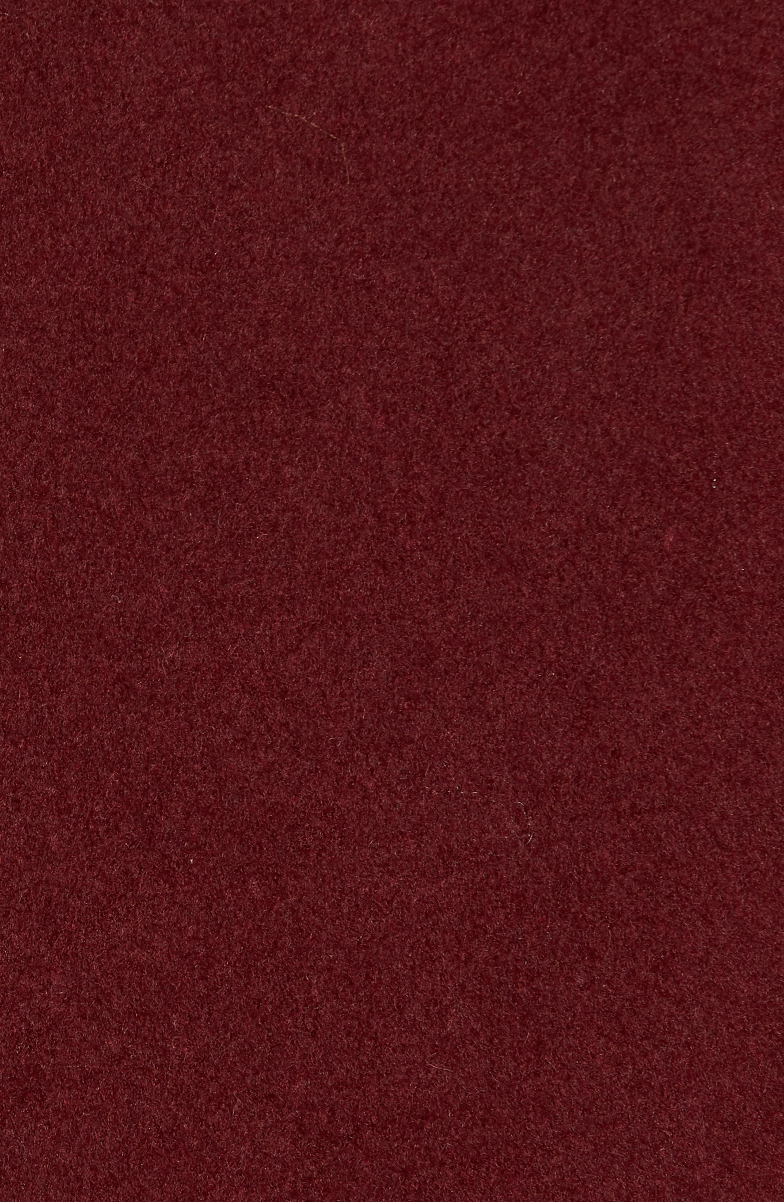Wool Blend Menswear Coat,                             Alternate thumbnail 7, color,                             BURGUNDY