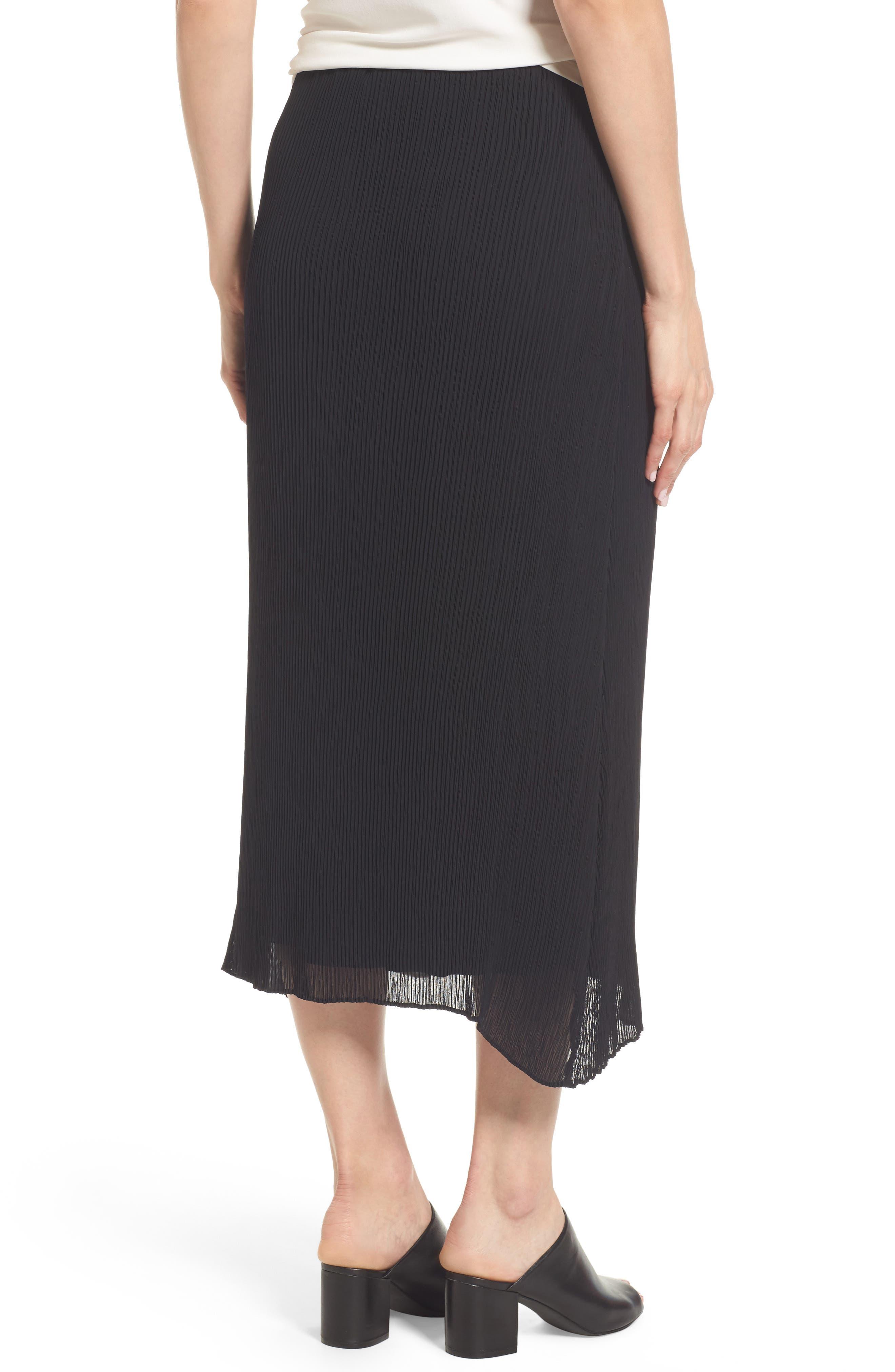 Pleated Midi Skirt,                             Alternate thumbnail 2, color,                             001