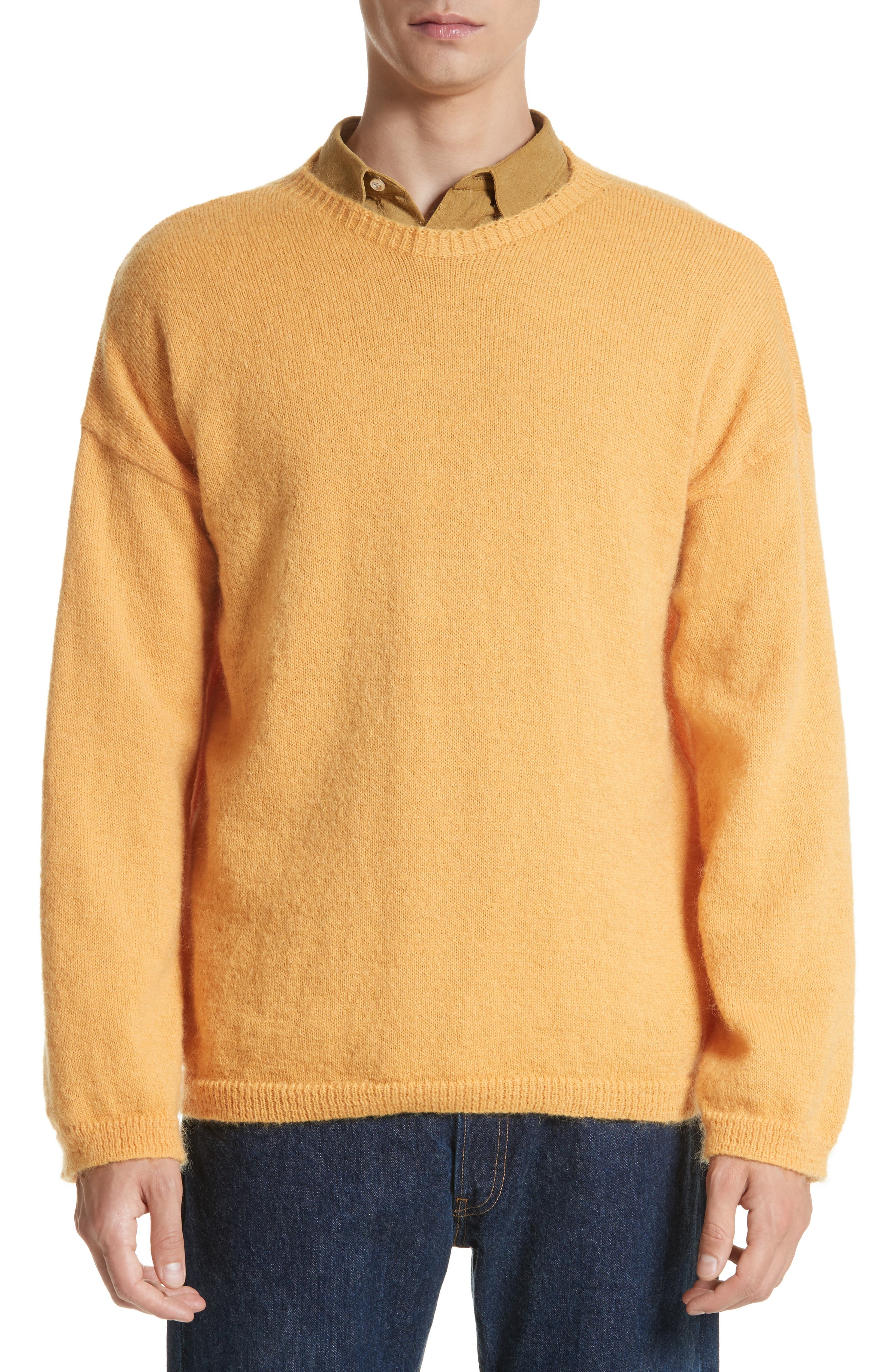 Mohair Blend Crewneck Sweater,                             Main thumbnail 1, color,