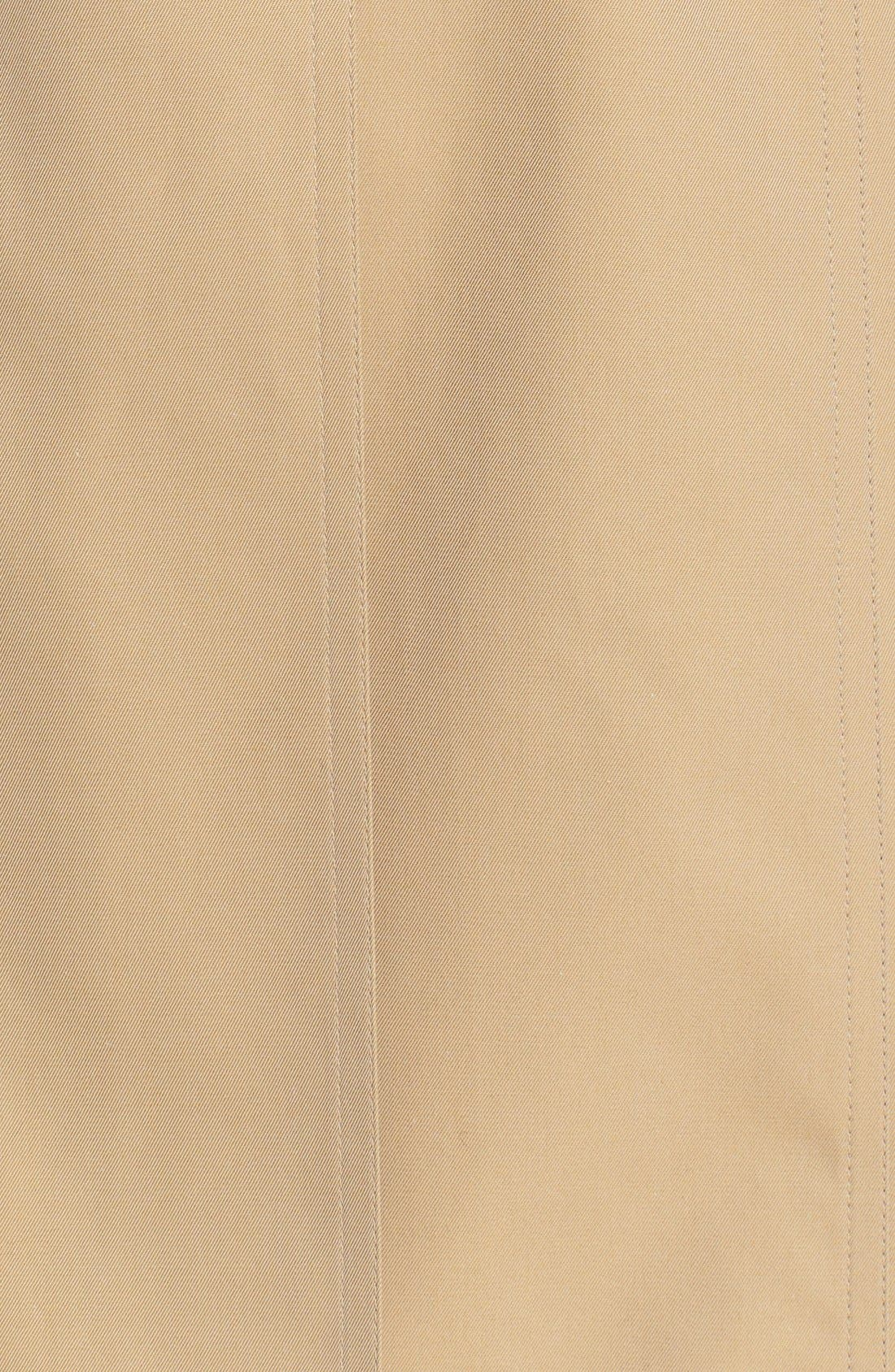 BURBERRY,                             Redhill Puff Sleeve Cotton Trench,                             Alternate thumbnail 5, color,                             250