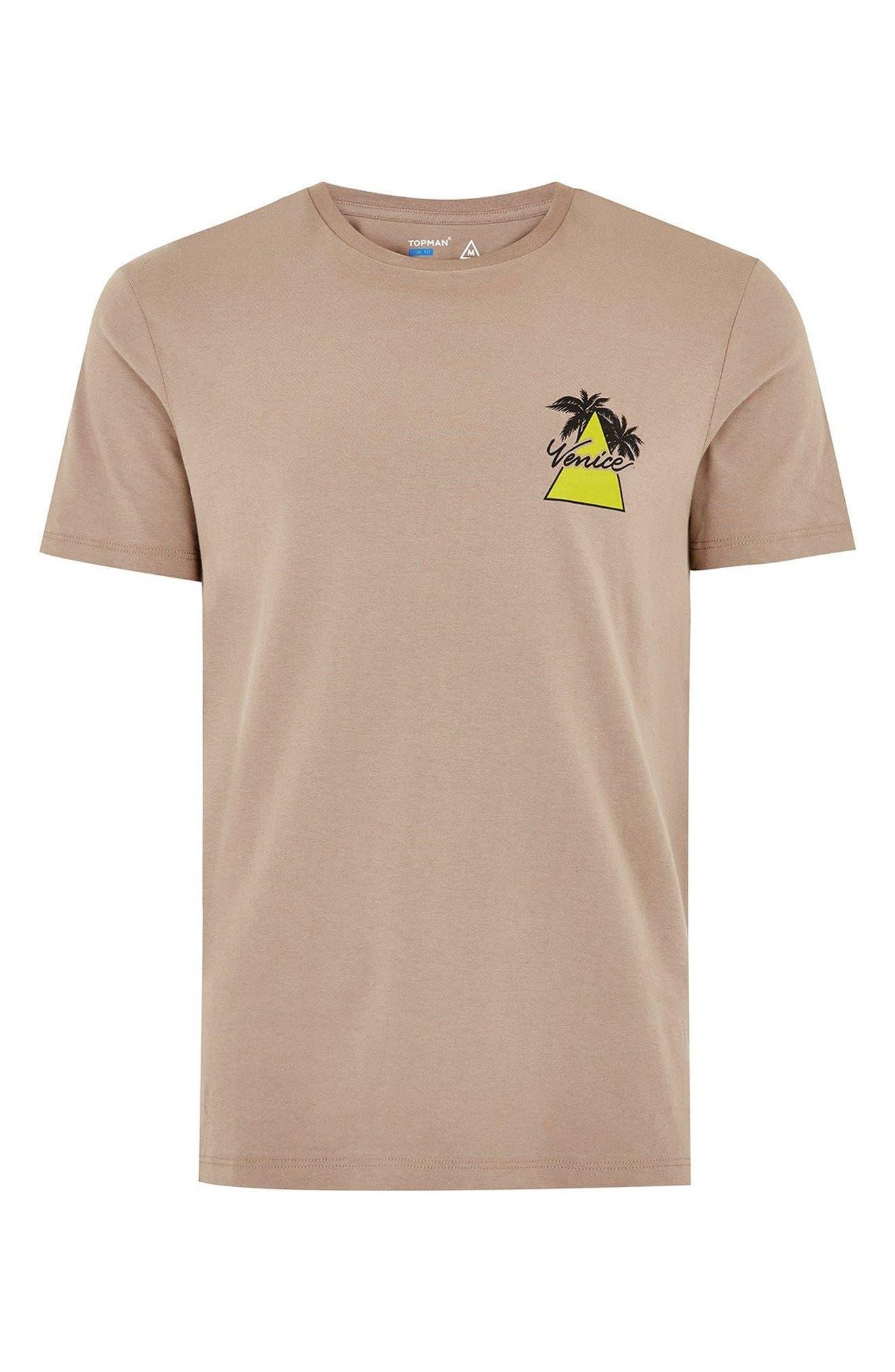Slim Fit Venice Graphic T-Shirt,                             Alternate thumbnail 4, color,