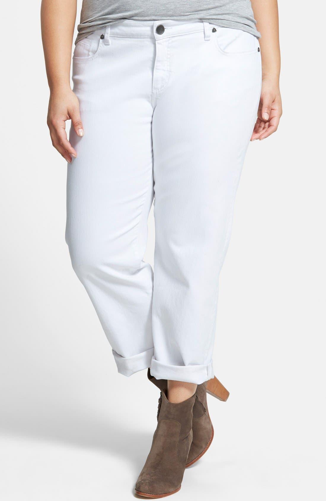 'Catherine' Boyfriend Jeans,                             Main thumbnail 1, color,                             WHITE
