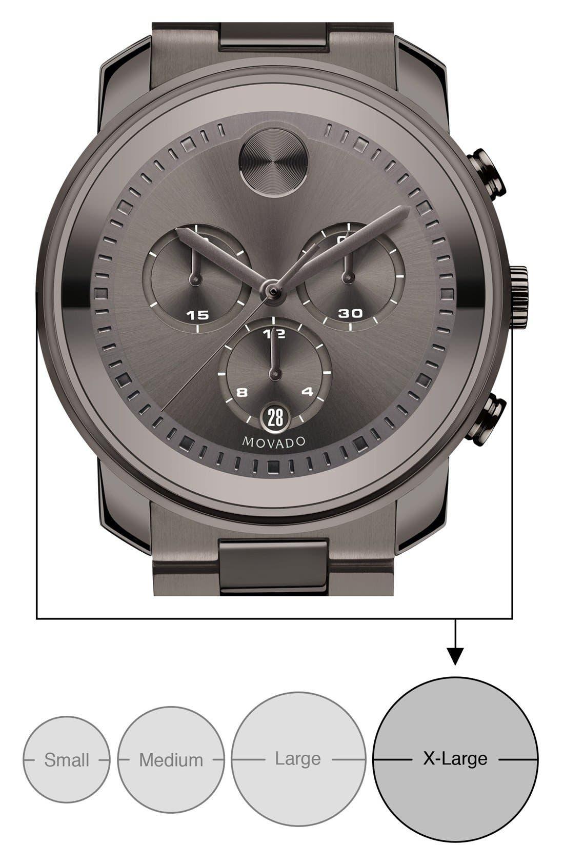 Bold Chronograph Bracelet Watch, 44mm,                             Alternate thumbnail 4, color,                             001