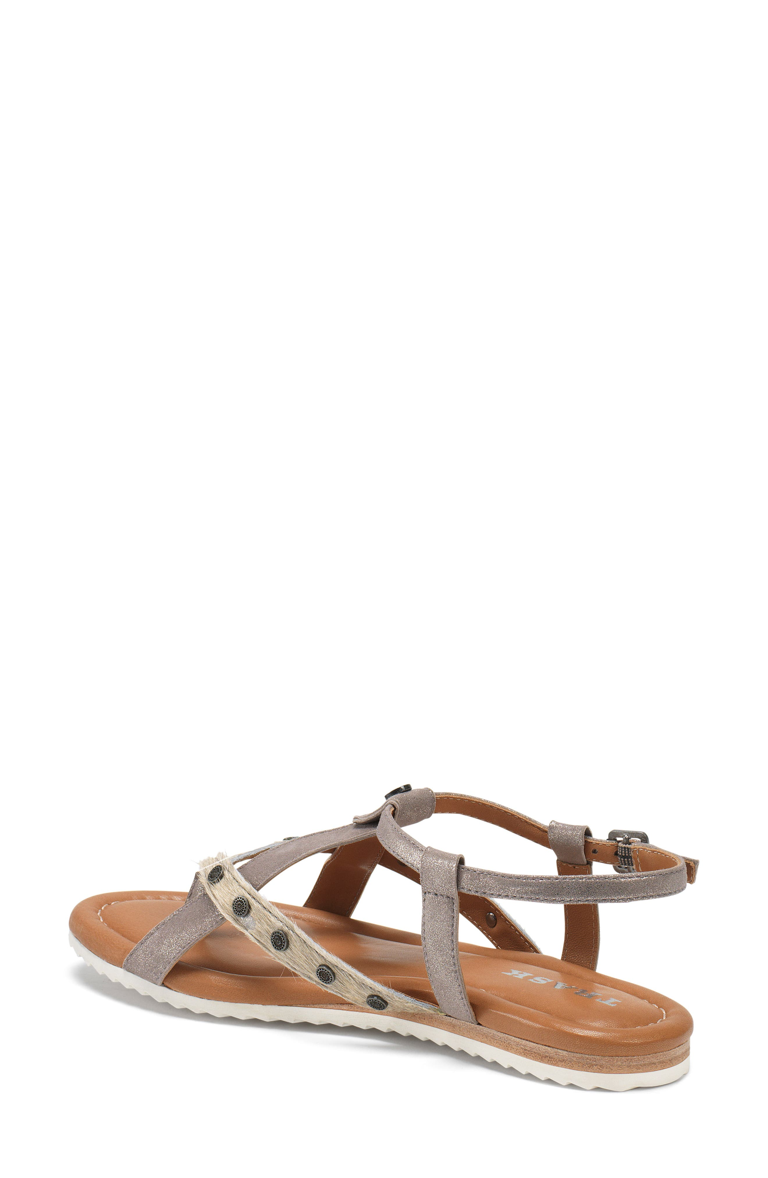 Shayla Water Resistant Sandal,                             Alternate thumbnail 2, color,                             PEWTER/ BONE SUEDE