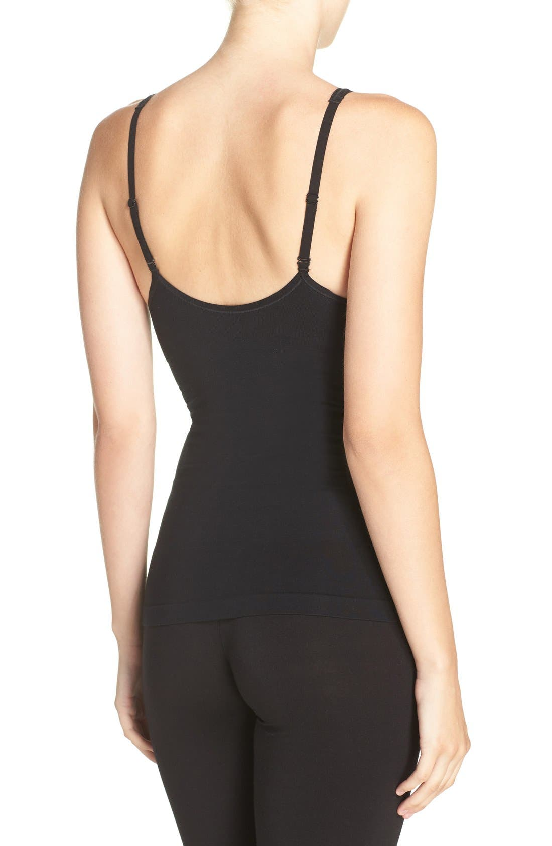 Adella Convertible Smoother Camisole,                             Alternate thumbnail 3, color,                             BLACK