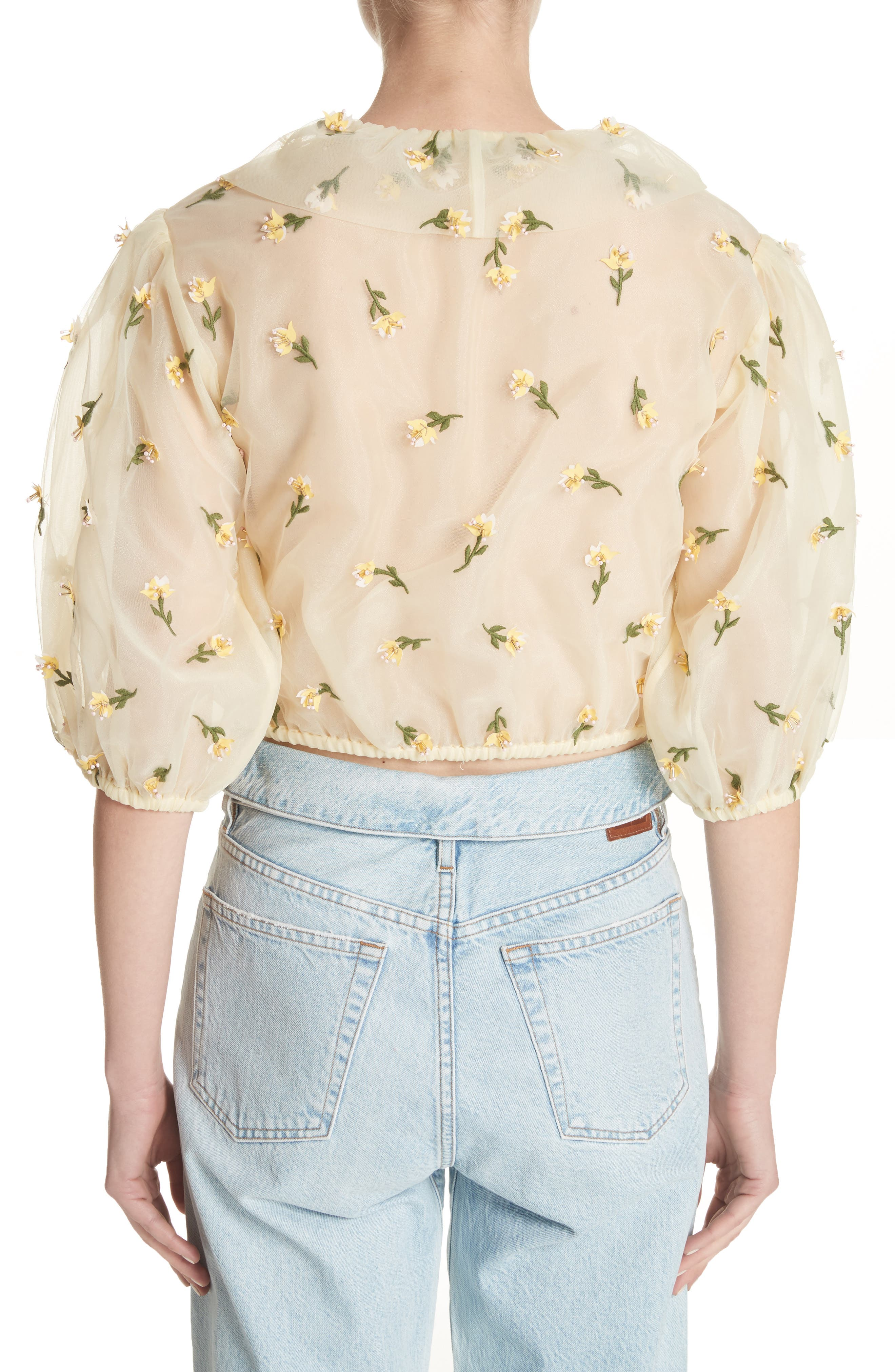 Bliss Embroidered Floral Wrap Top,                             Alternate thumbnail 2, color,
