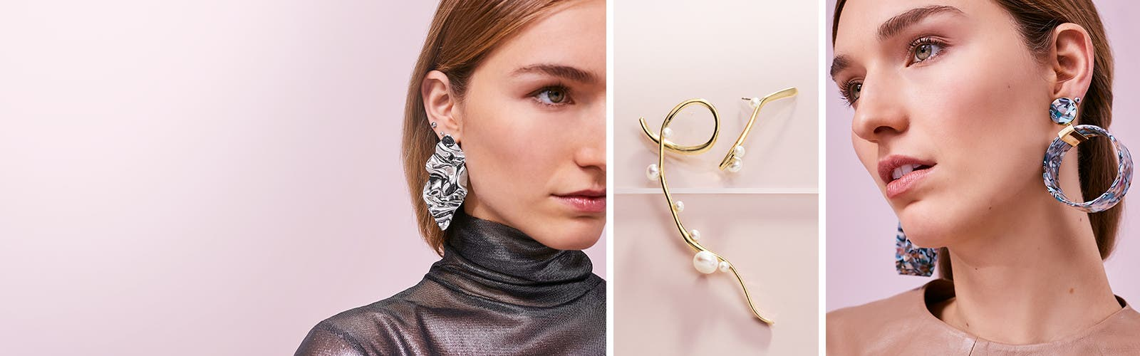 High-impact ears: delicate studs and bold statement-makers.