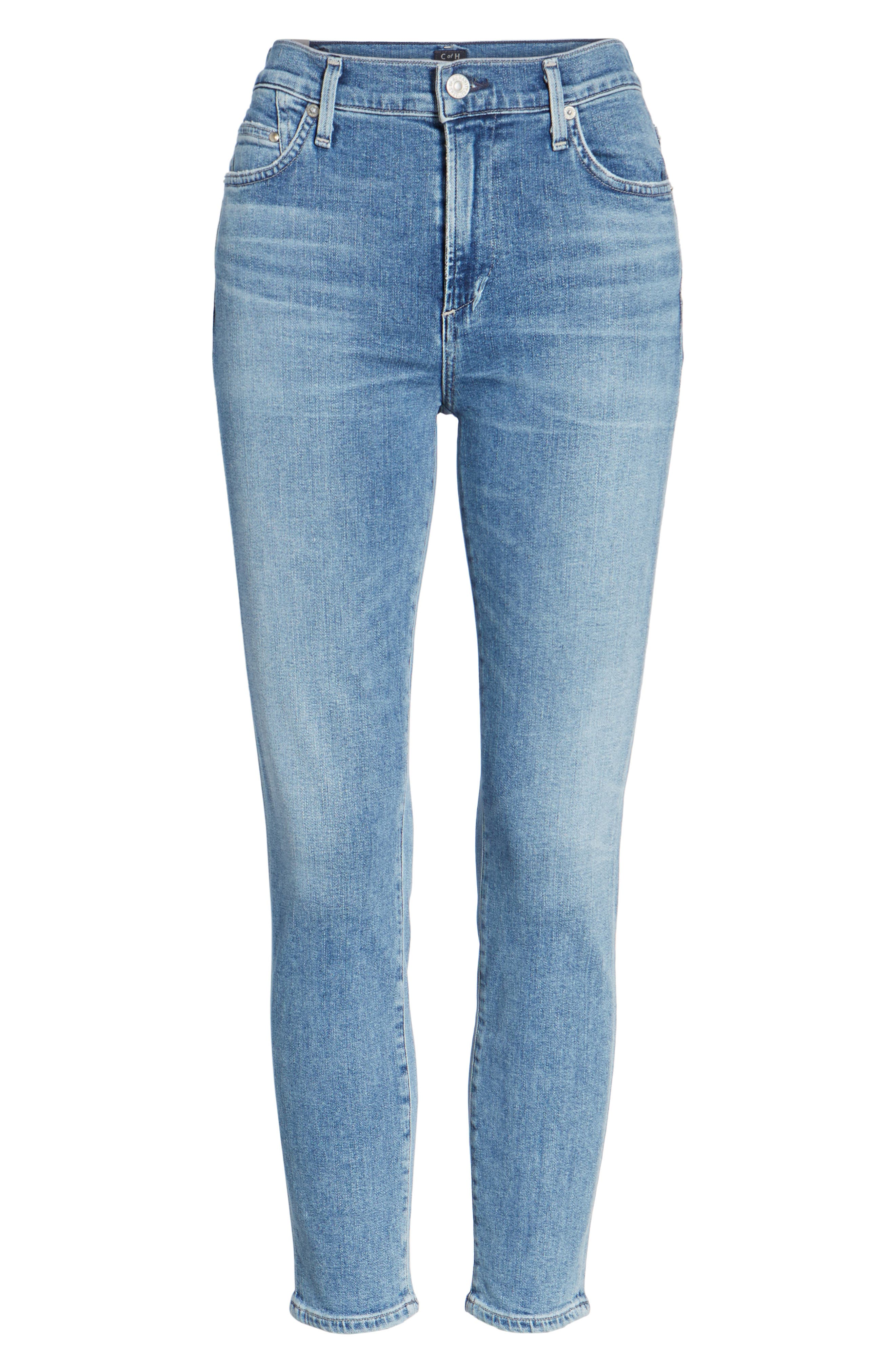 Rocket High Waist Crop Skinny Jeans,                             Alternate thumbnail 2, color,