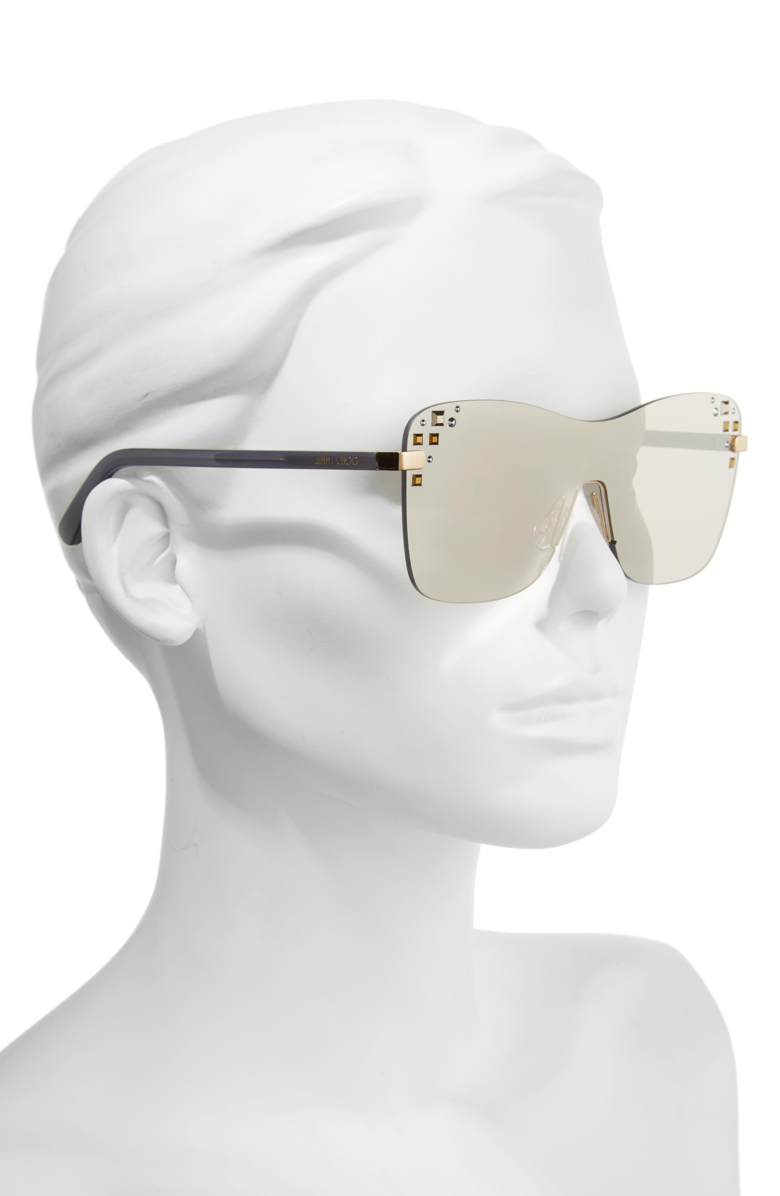 Masks 63mm Rimless Shield Sunglasses,                             Alternate thumbnail 5, color,