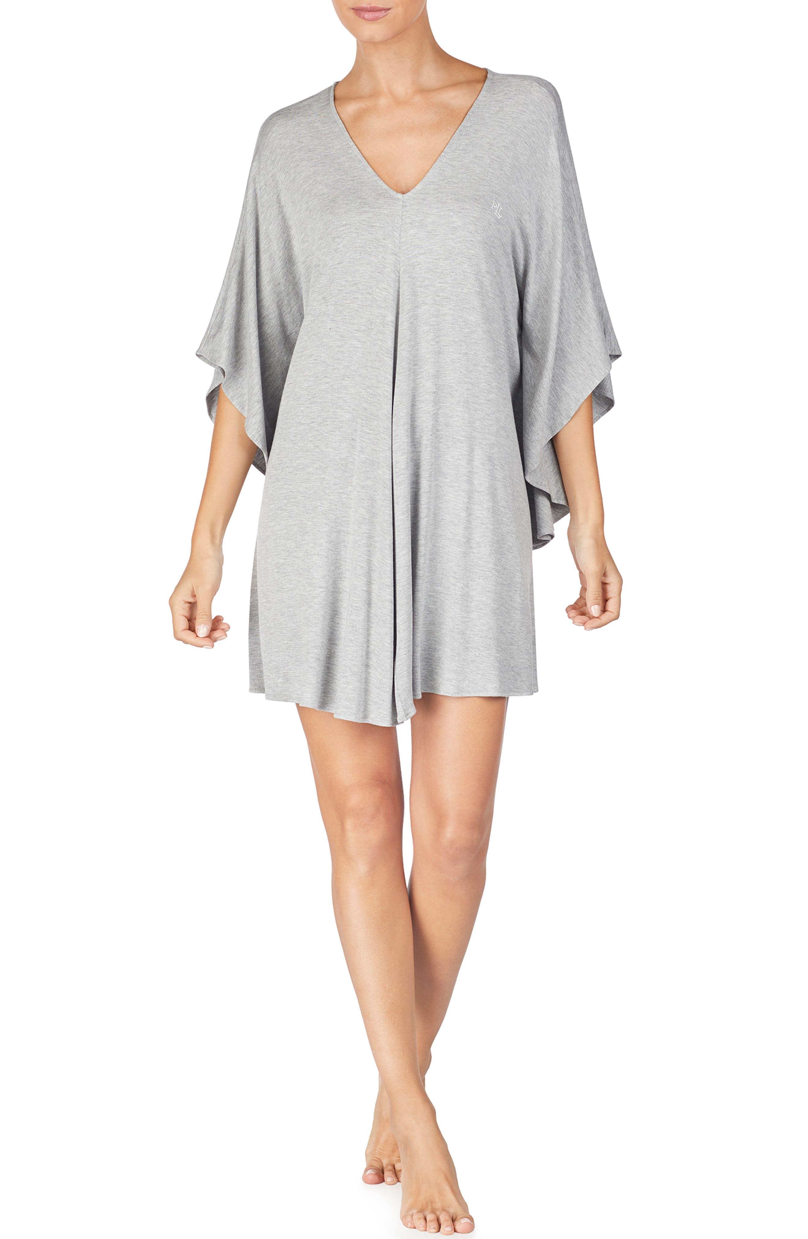 Caftan Nightgown, Main, color, GREY