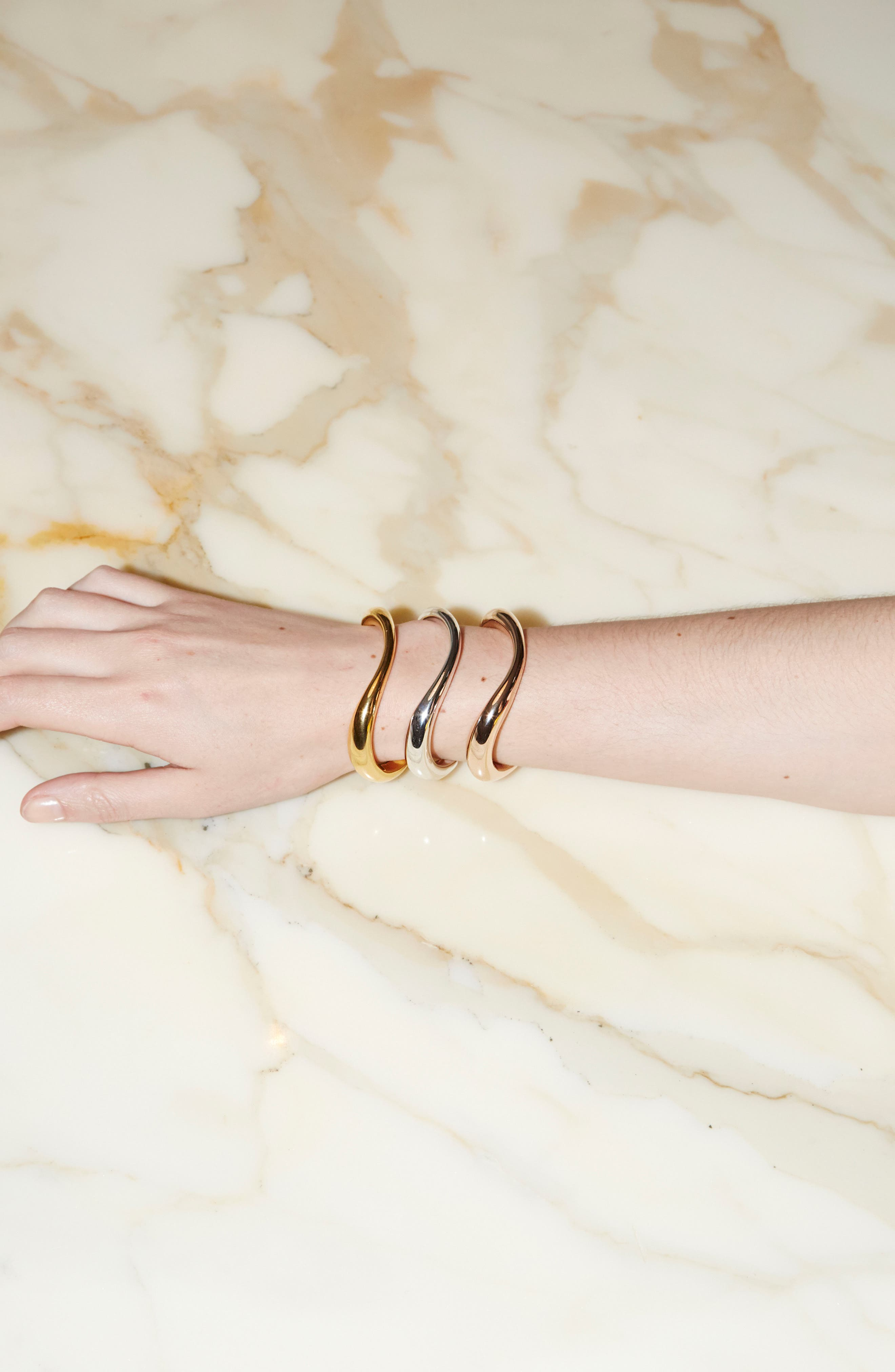 Turtle Vermeil Bracelet,                             Alternate thumbnail 3, color,                             YELLOW