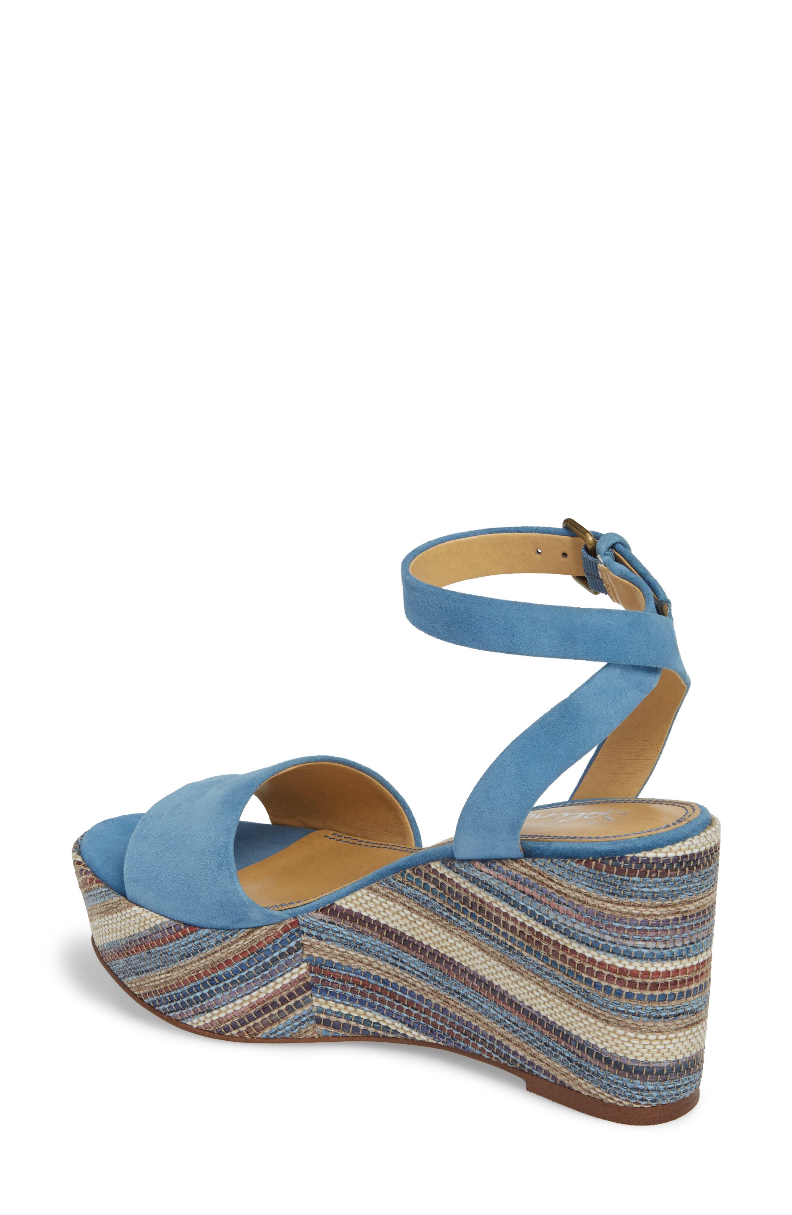 Felix Platform Wedge Sandal,                             Alternate thumbnail 2, color,                             BLUE HORIZON SUEDE