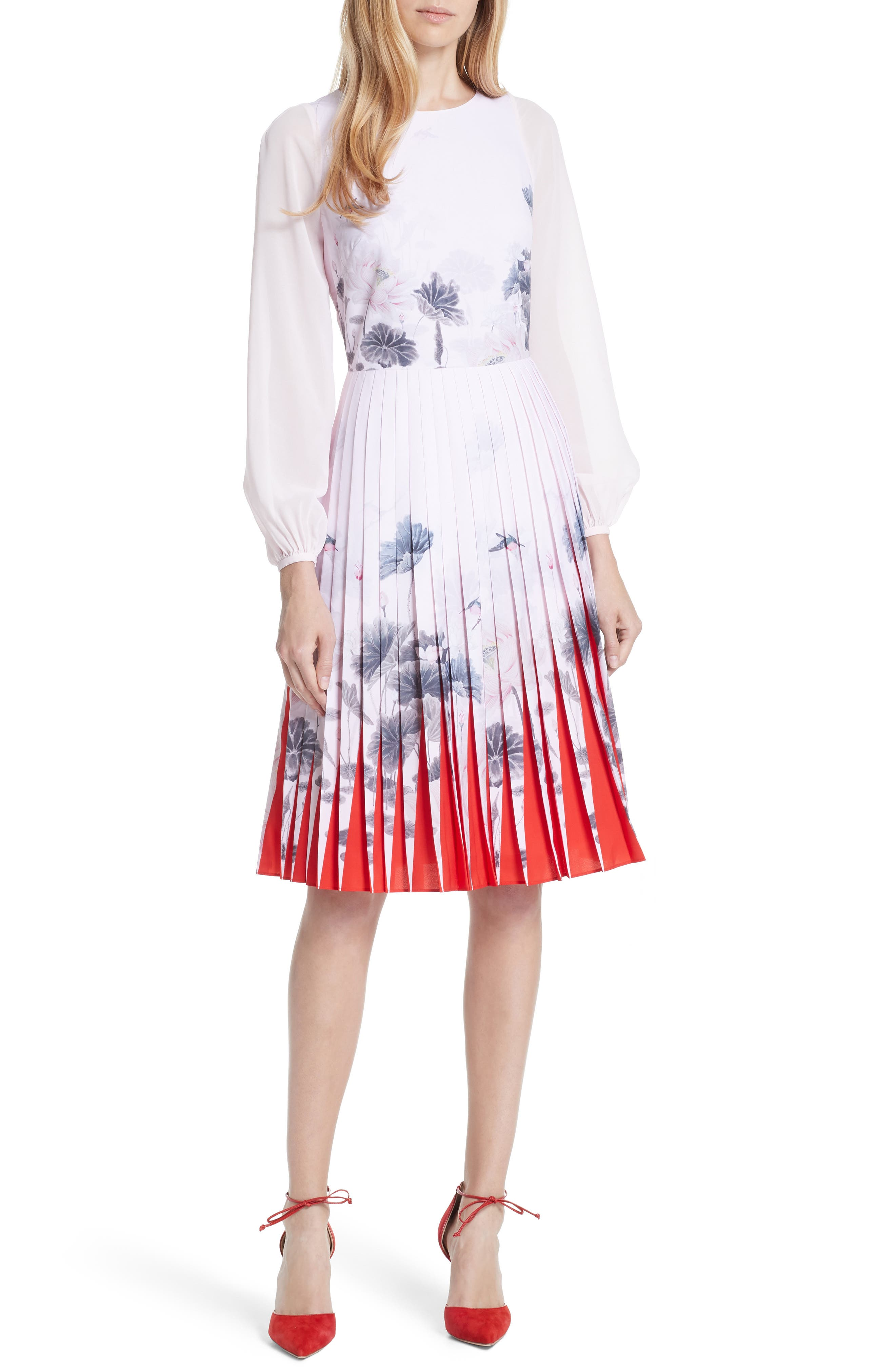6eb275020 Ted baker london lake of dreams pleated dress nordstrom jpg 1660x2546 Ted  baker lavender dress