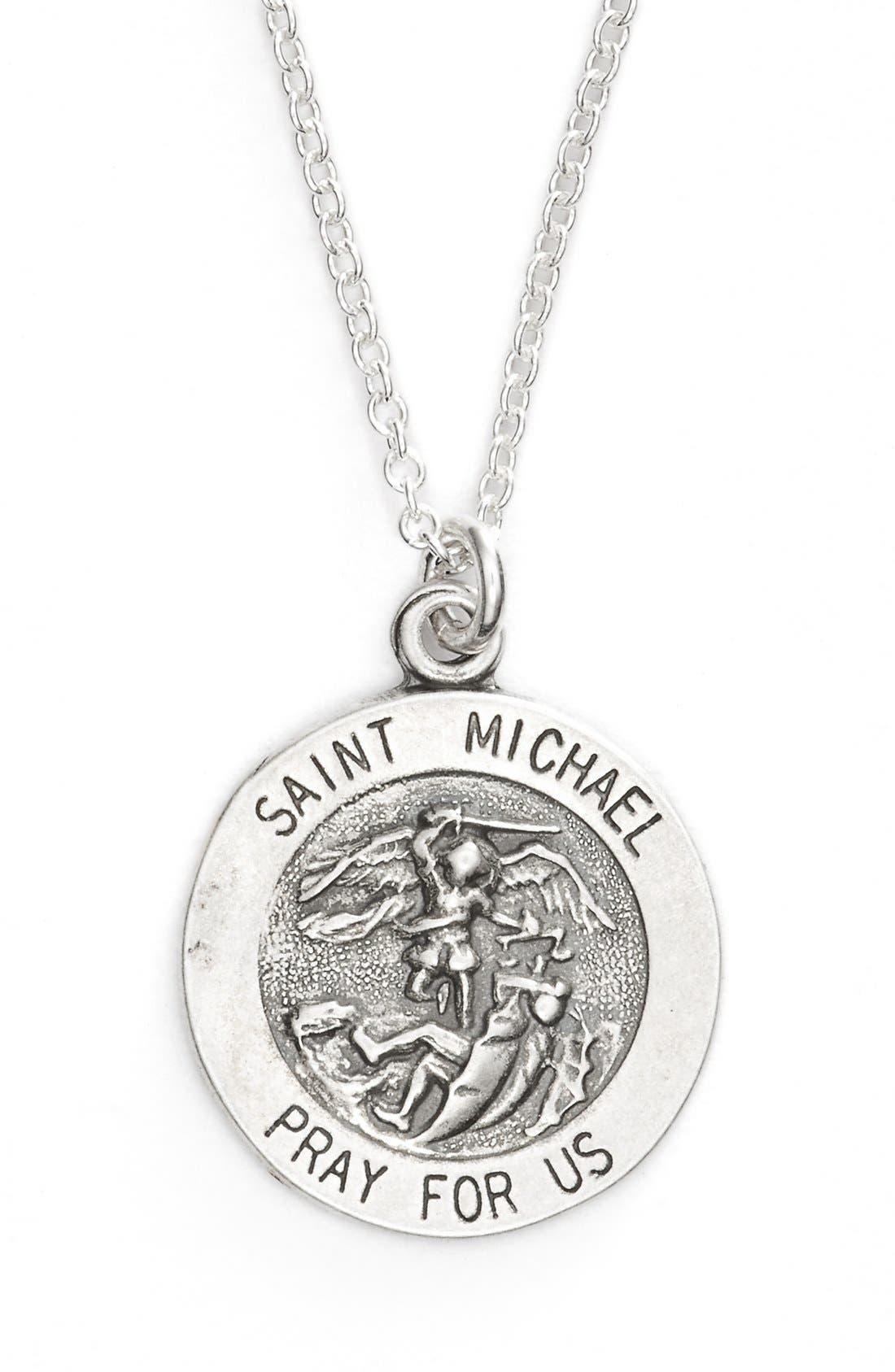St. Michael Pendant Necklace,                             Alternate thumbnail 2, color,                             040
