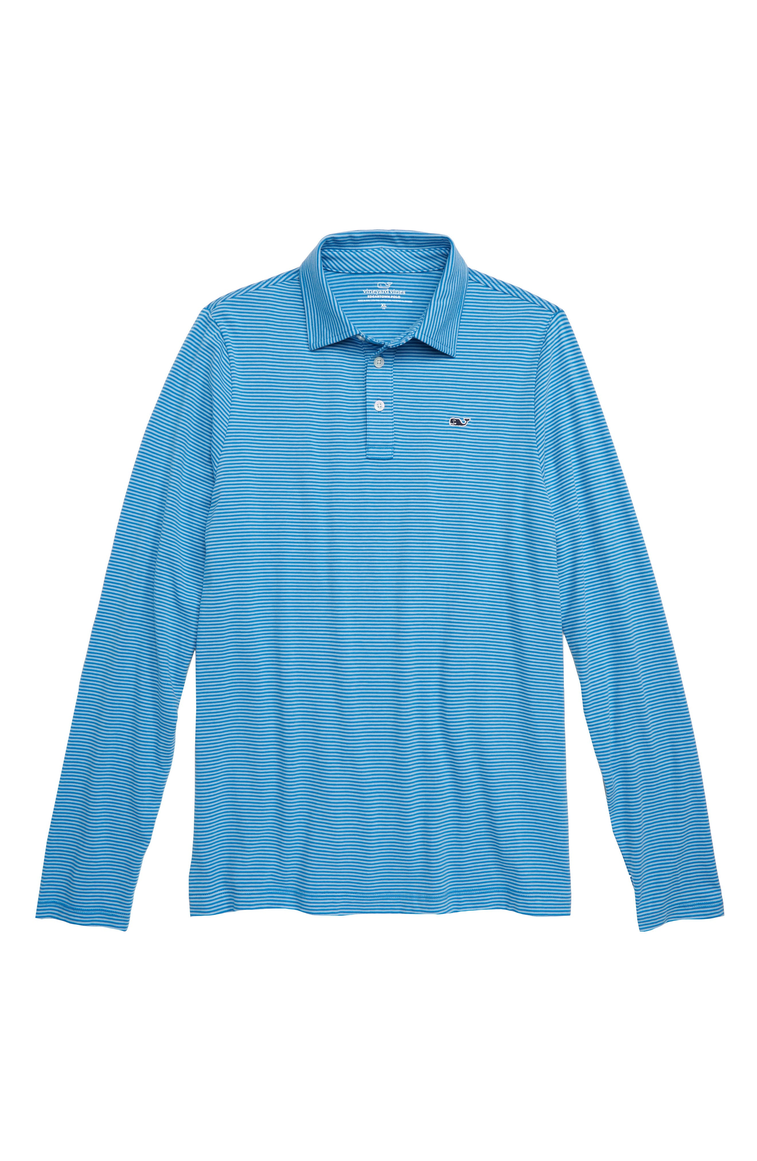 Stripe Edgartown Performance Polo,                         Main,                         color, 456