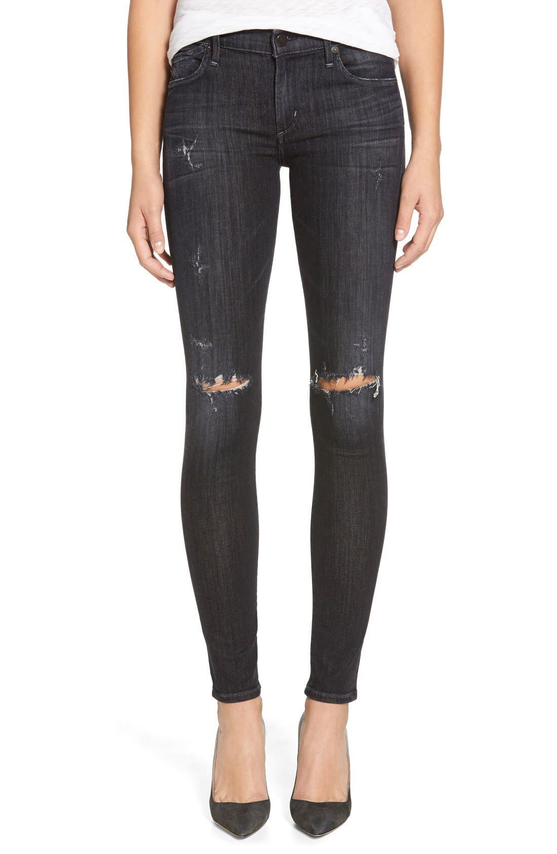 Destroyed Skinny Jeans,                         Main,                         color, 029