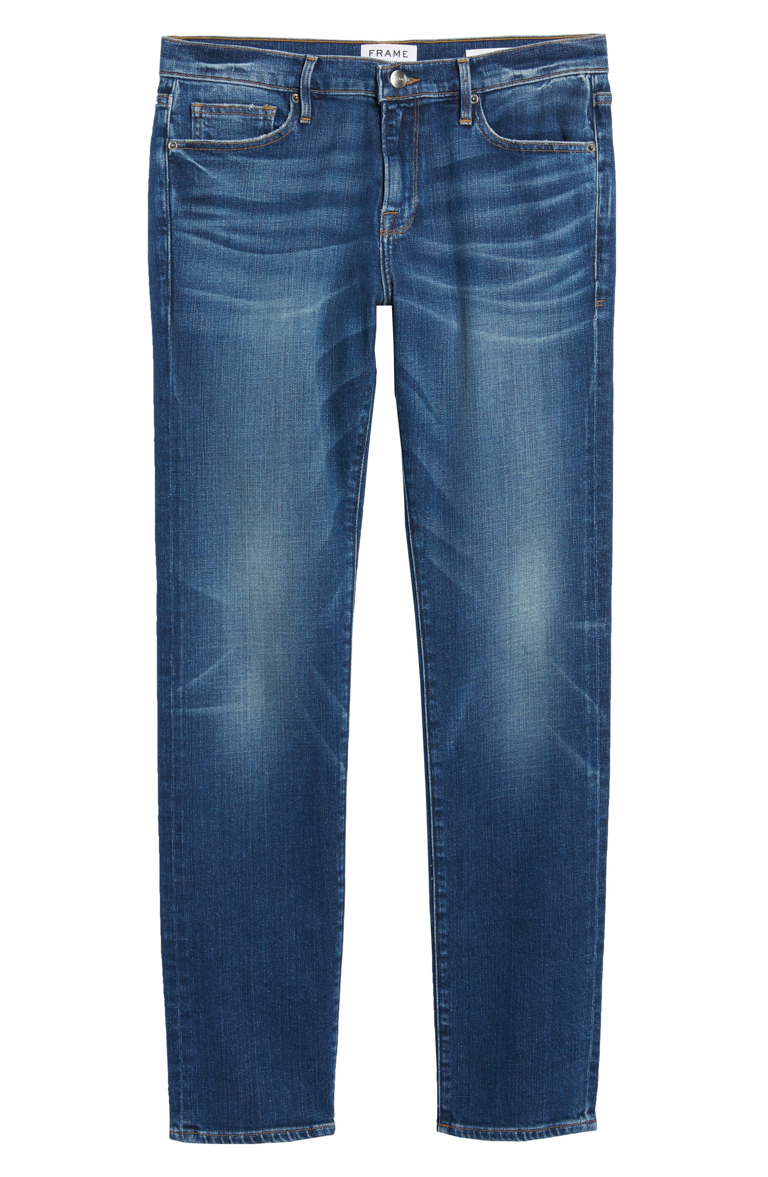 L'Homme Skinny Fit Jeans,                             Alternate thumbnail 6, color,                             420