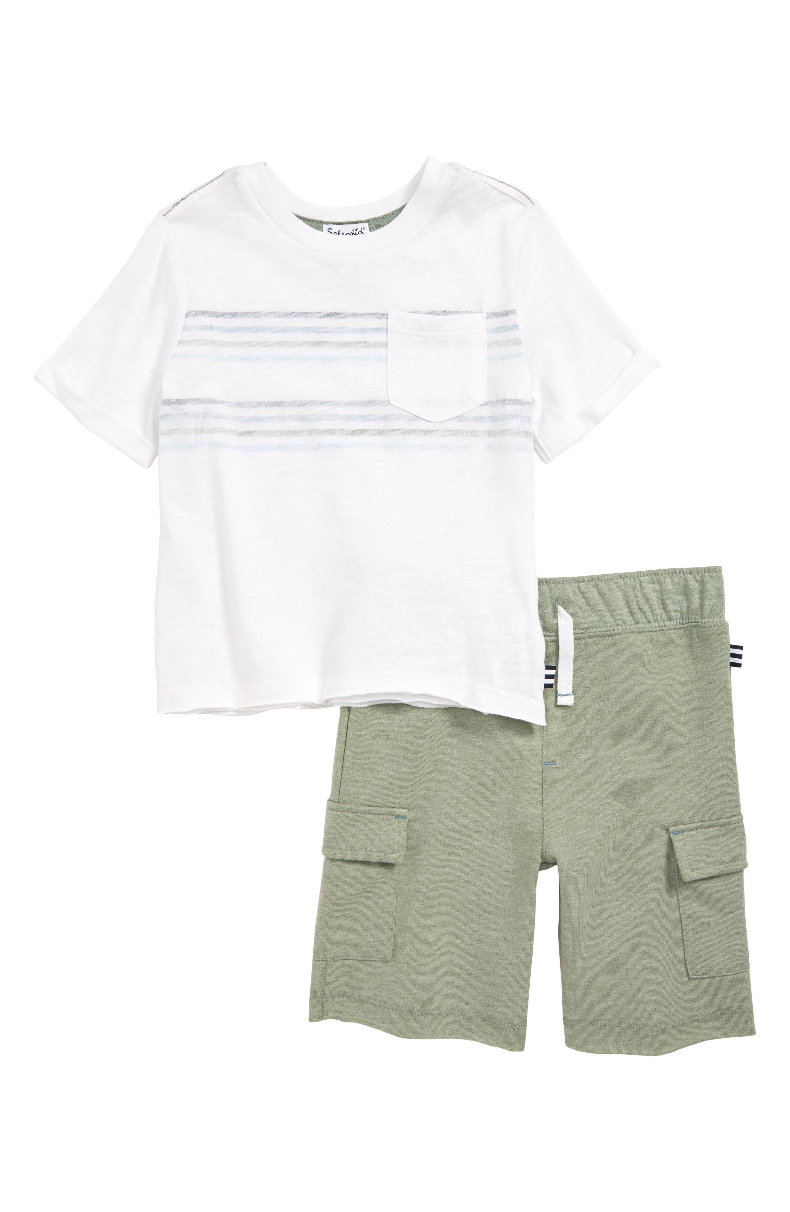 Boys Splendid Stripe TShirt  Cargo Shorts Set