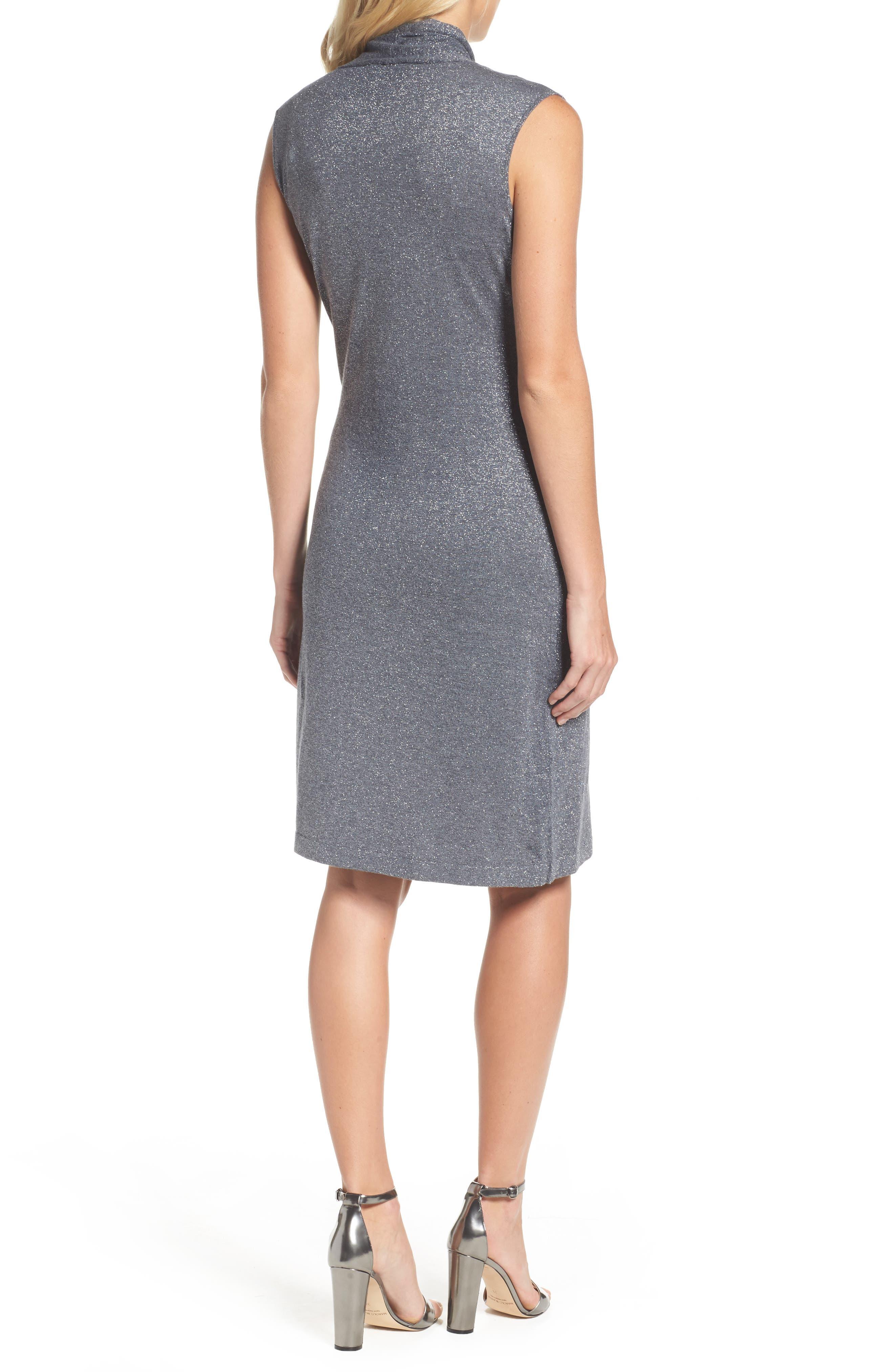 Draped Faux Wrap Dress,                             Alternate thumbnail 2, color,                             030