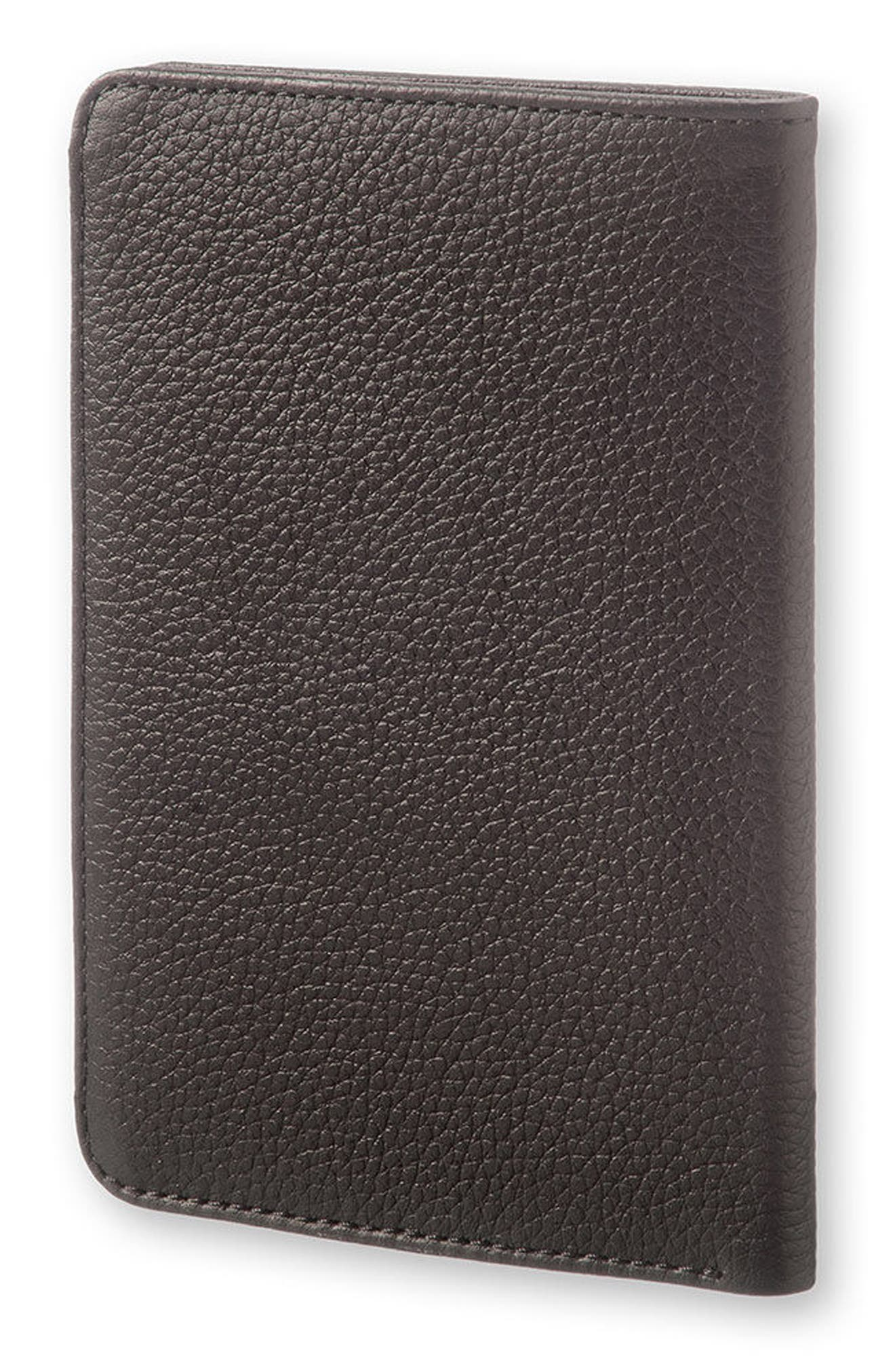 Lineage Leather Passport Wallet,                             Alternate thumbnail 3, color,                             001