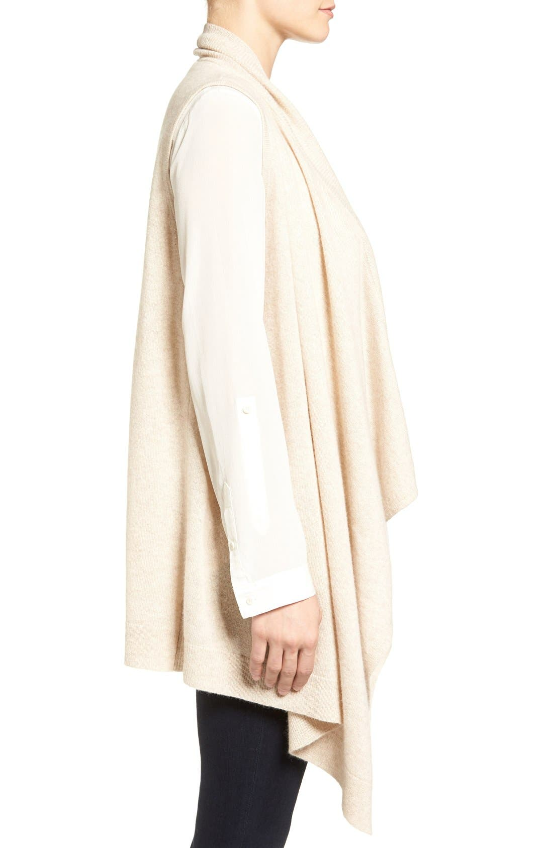 Wool & Cashmere Drape Front Sweater Vest,                             Alternate thumbnail 22, color,