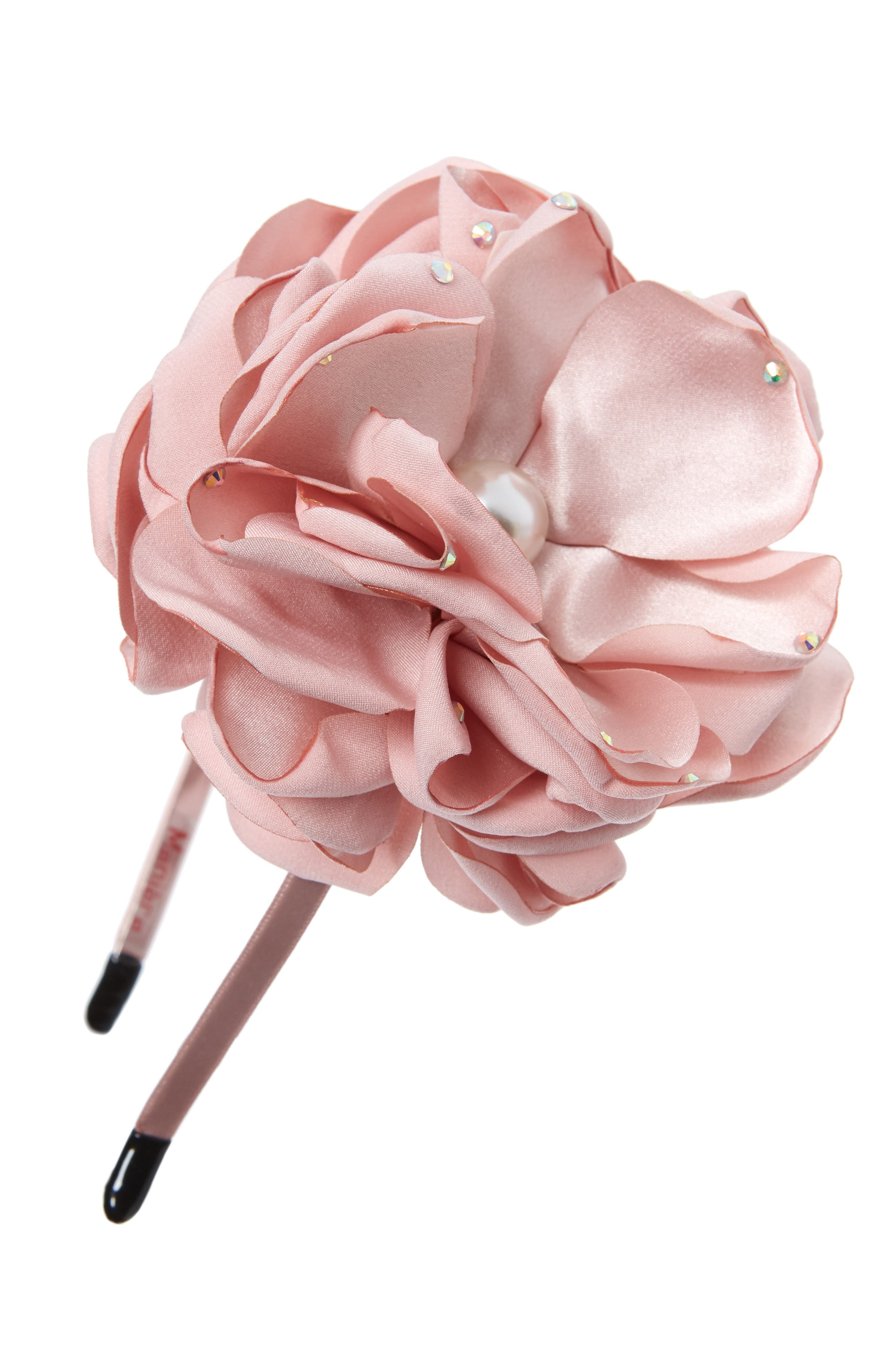 Maniere Sparkle Flower Headband Size One Size  Pink
