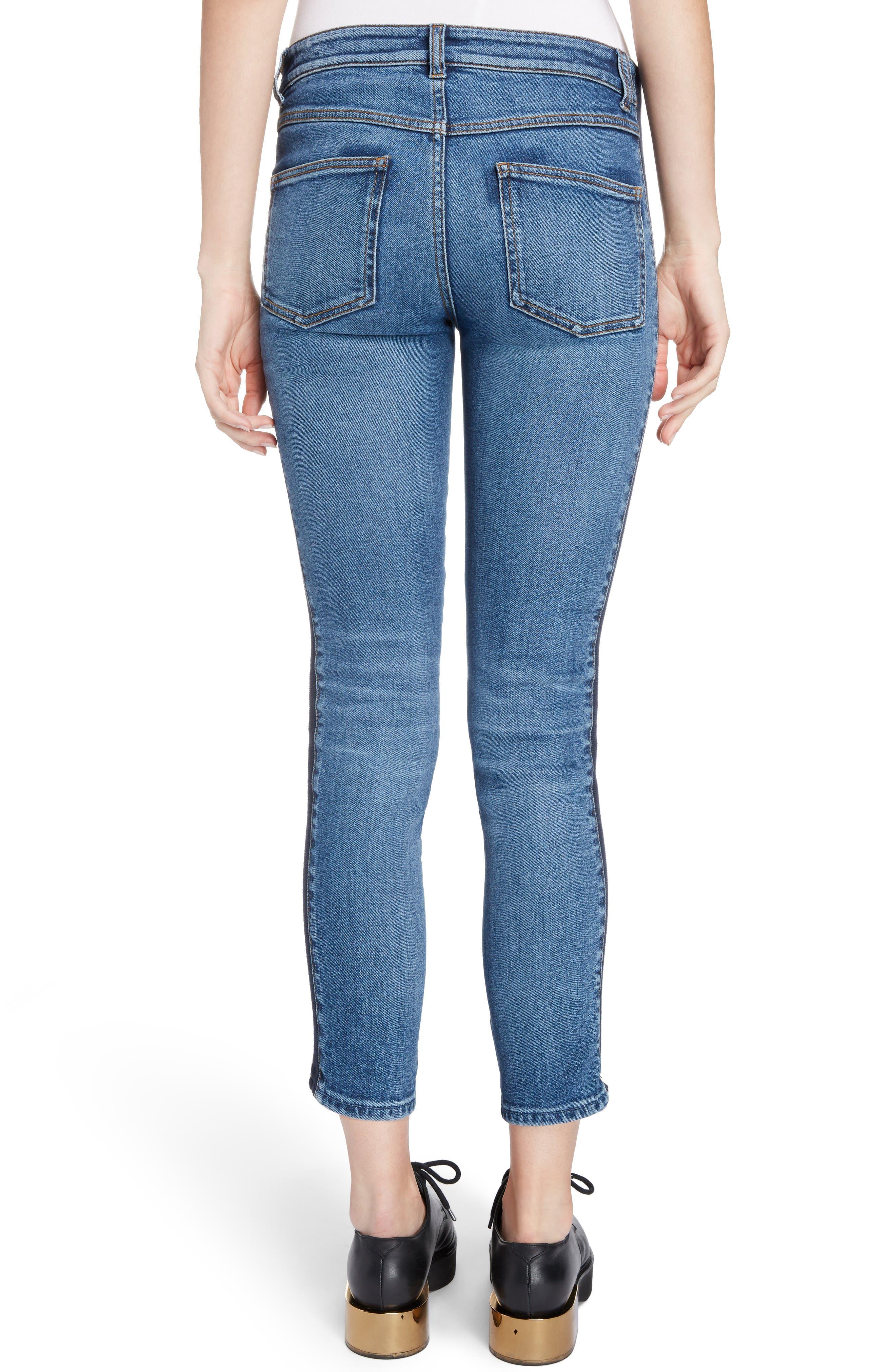 Side Stripe Crop Skinny Jeans,                             Alternate thumbnail 2, color,
