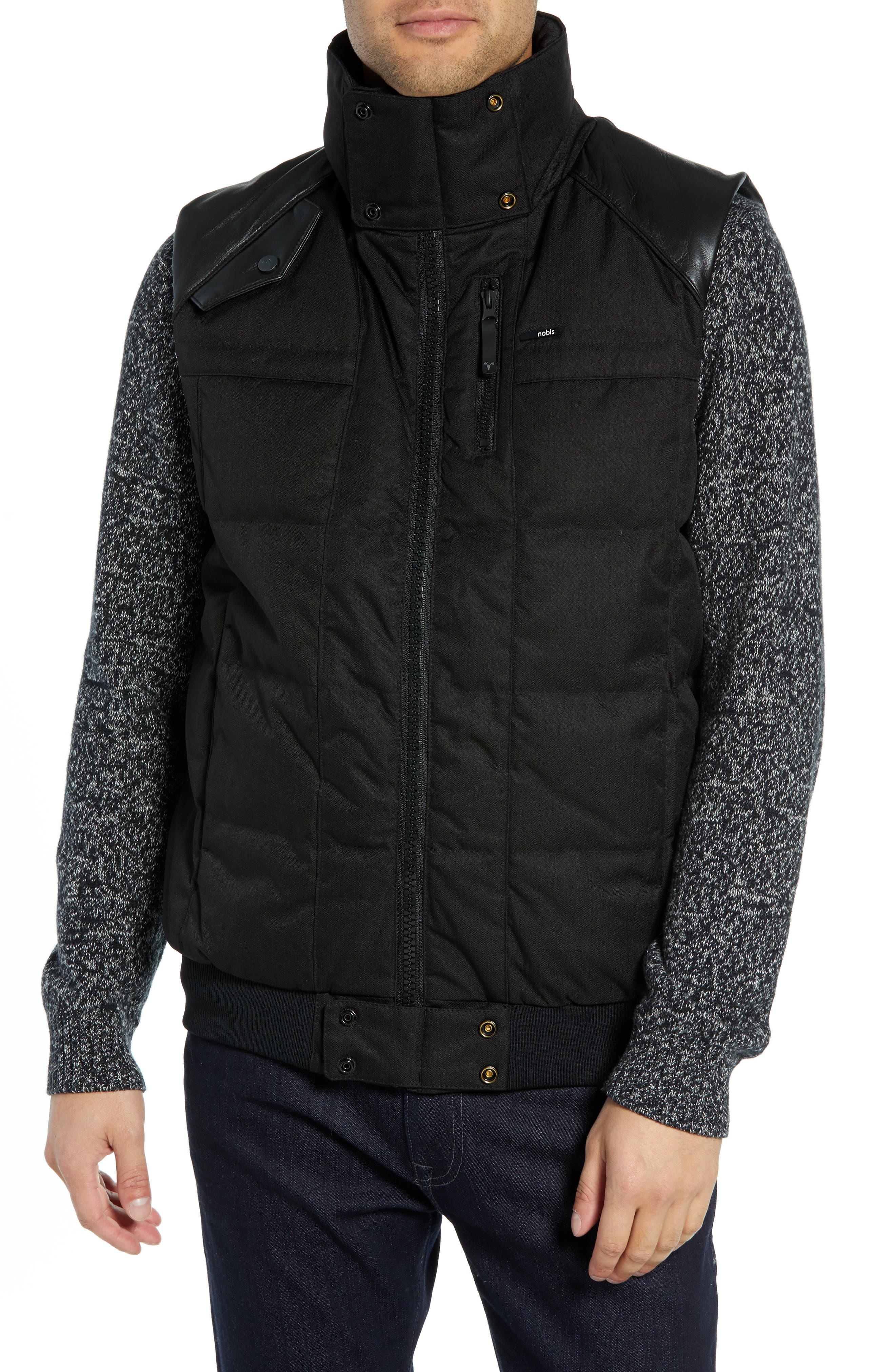 Ricky Bobby Windproof & Waterproof 650-Fill Power Down Puffer Vest,                             Alternate thumbnail 4, color,                             BLACK