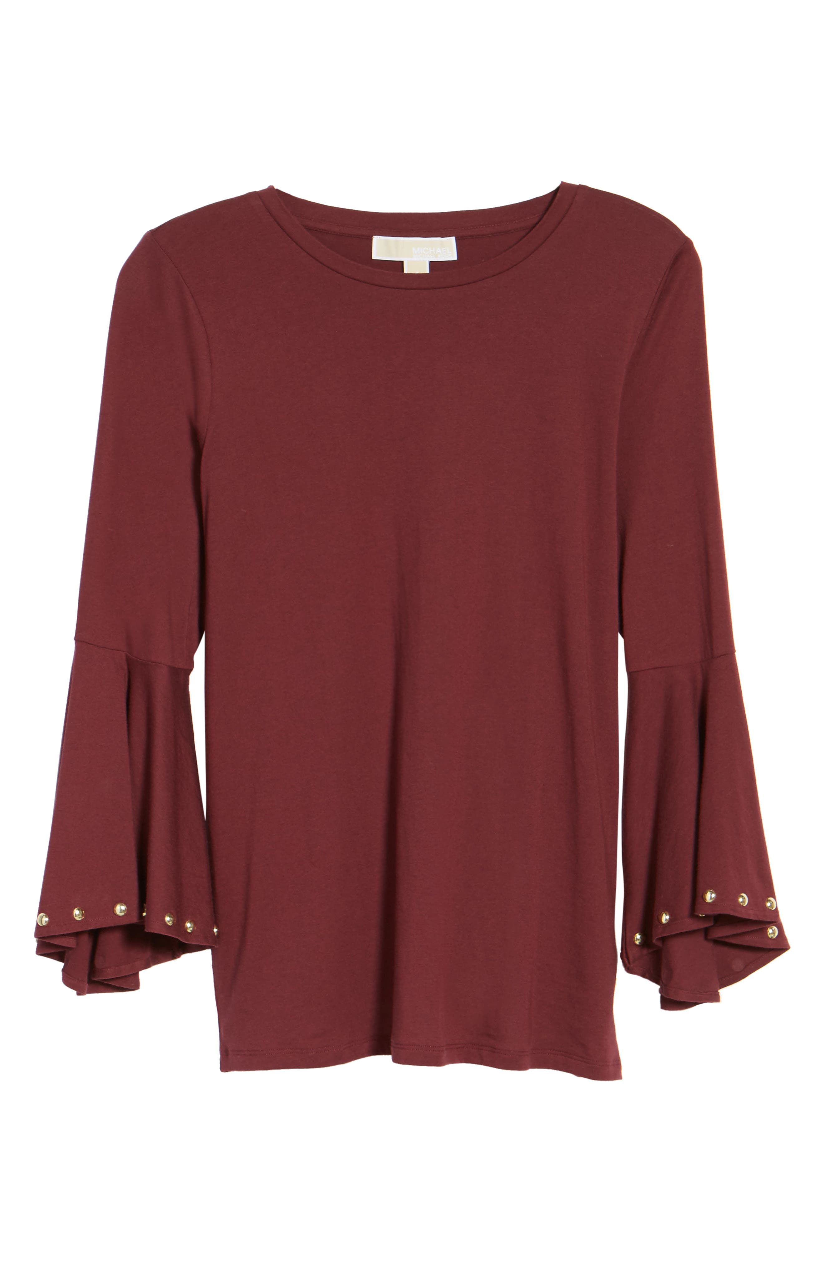 High/Low Bell Sleeve Top,                             Alternate thumbnail 18, color,